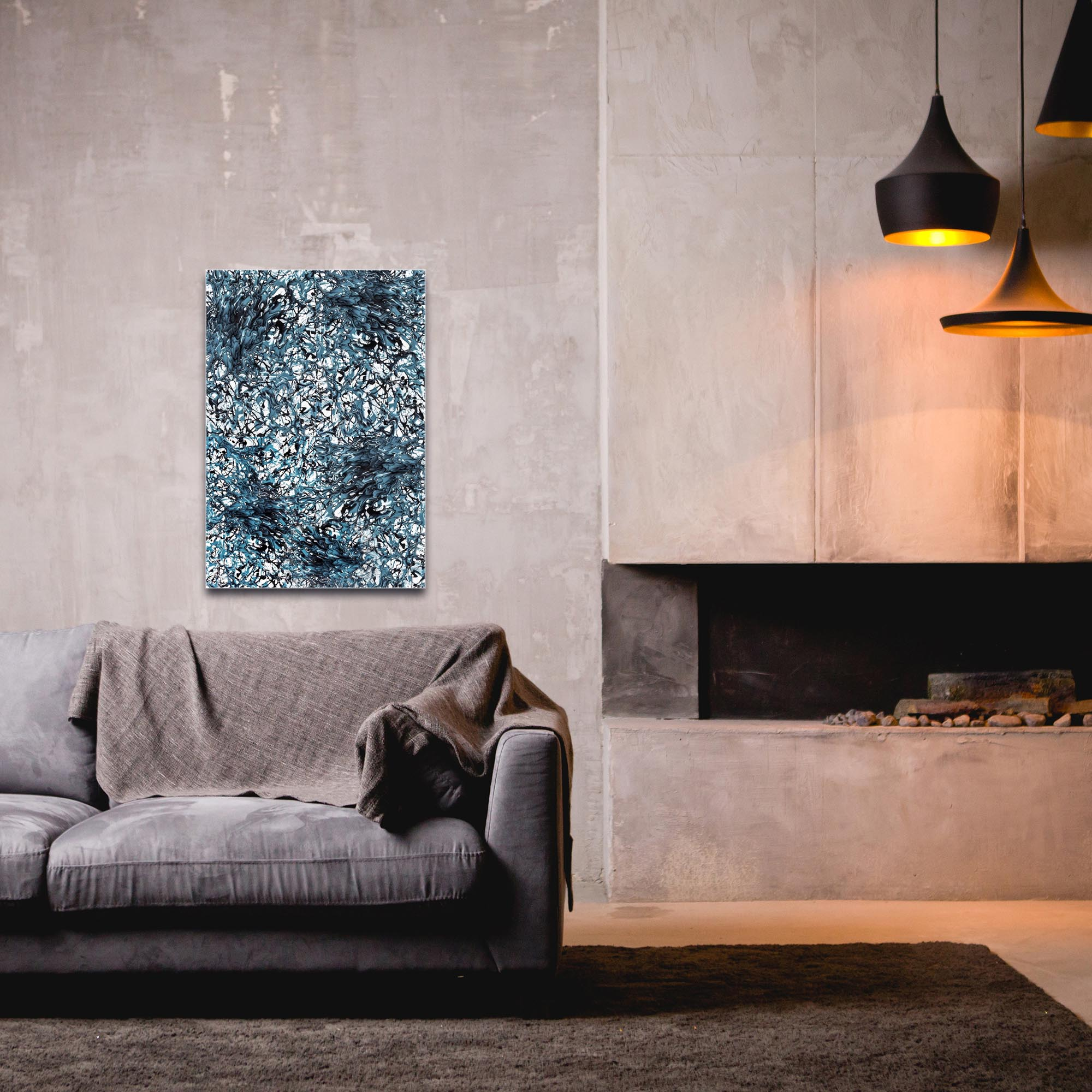 Abstract Wall Art 'Days of Grey 4 Quad' - Colorful Urban Decor on Metal or Plexiglass - Image 3