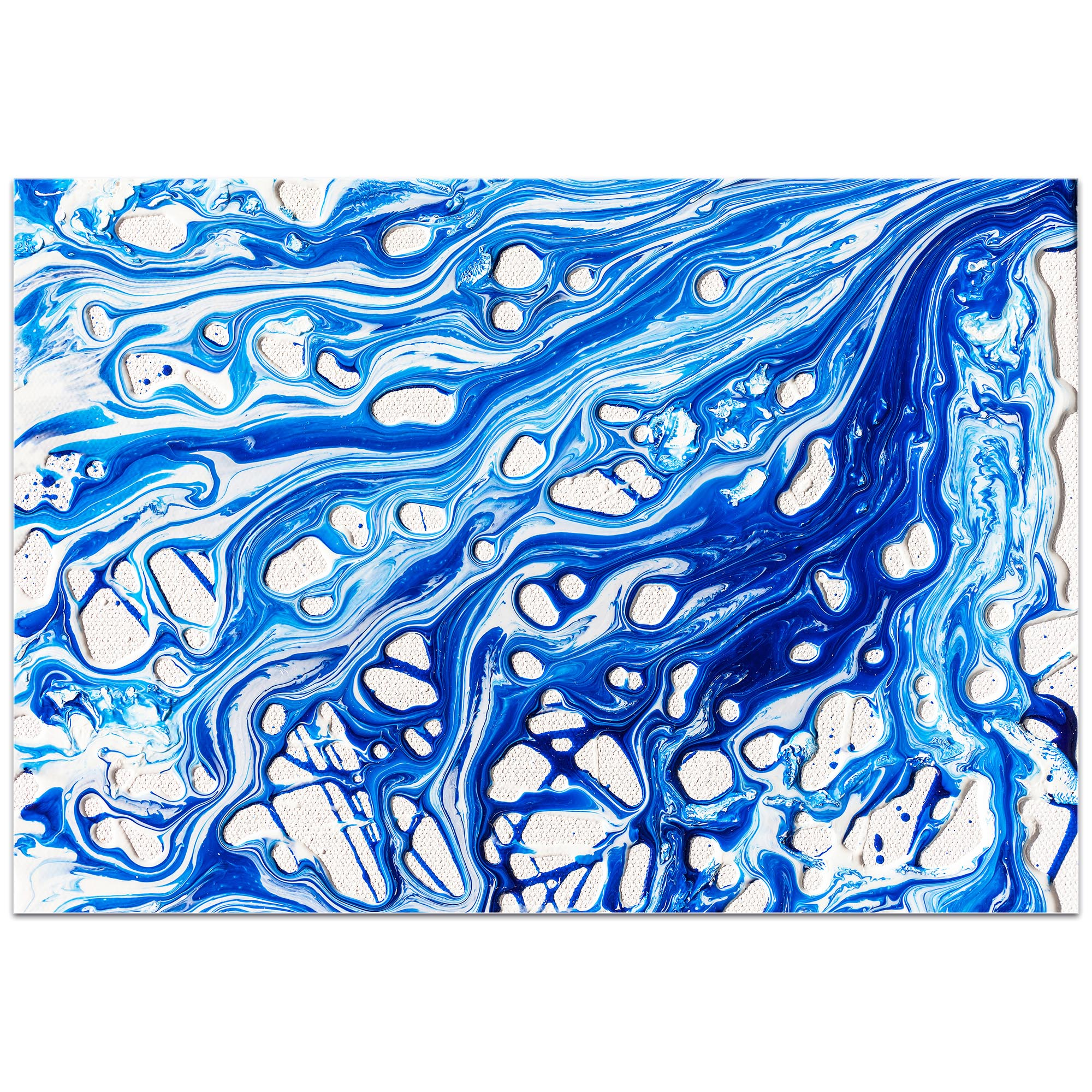 Abstract Wall Art 'Coastal Waters 2' - Colorful Urban Decor on Metal or Plexiglass - Image 2