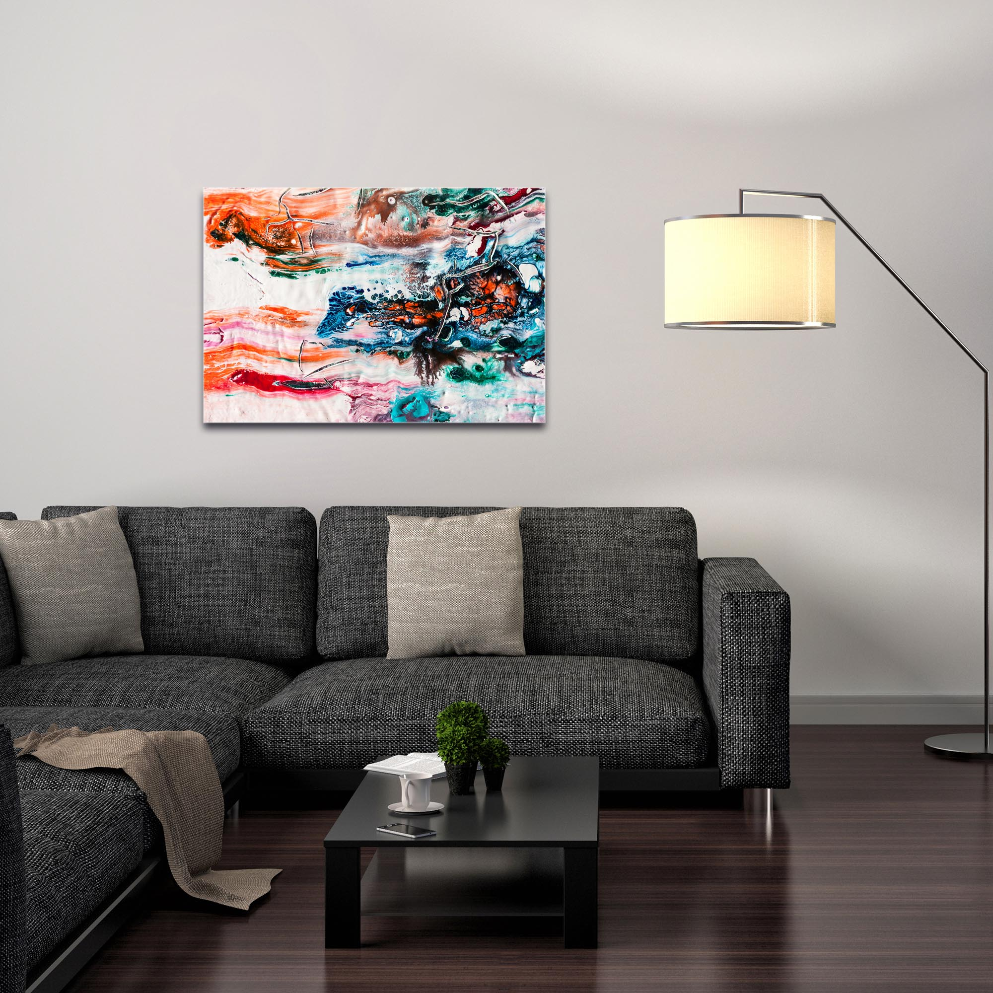 Abstract Wall Art 'Sunset on Her Breath 1' - Colorful Urban Decor on Metal or Plexiglass - Image 3