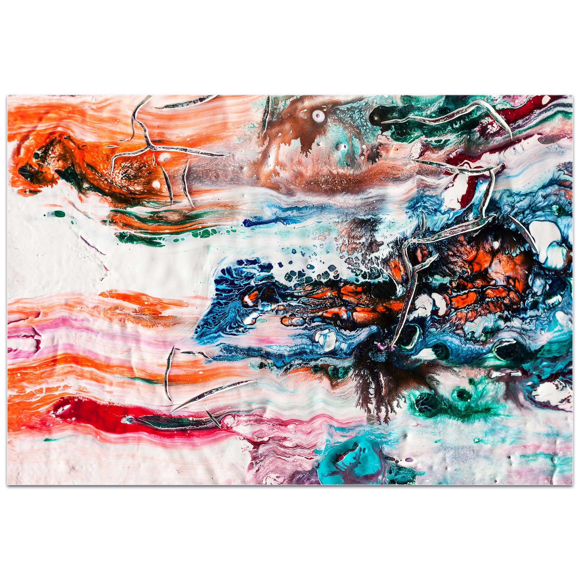Abstract Wall Art 'Sunset on Her Breath 1' - Colorful Urban Decor on Metal or Plexiglass - Image 2