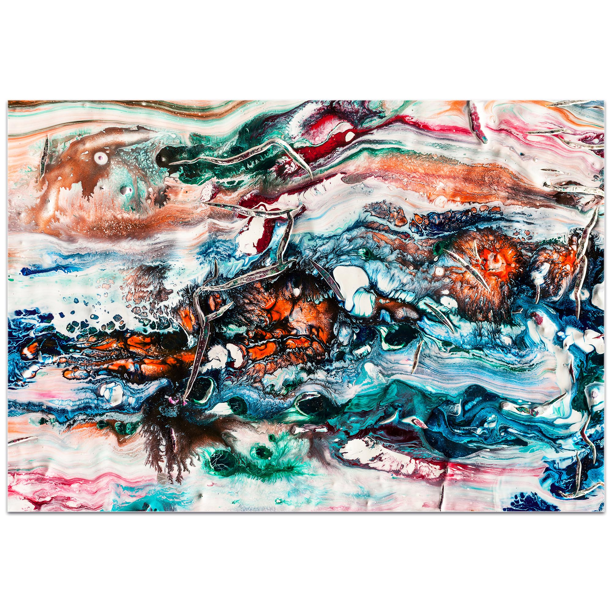 Abstract Wall Art 'Sunset On Her Breath 2' - Colorful Urban Decor on Metal or Plexiglass - Image 2