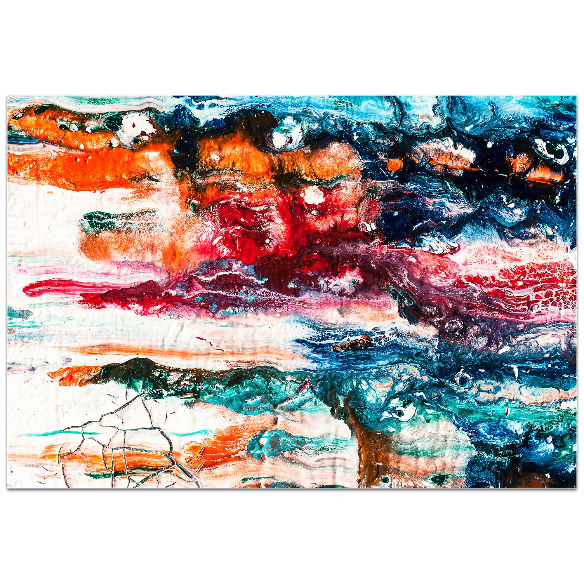 Abstract Wall Art 'Sunset On Her Breath 3' - Colorful Urban Decor on Metal or Plexiglass - Image 2