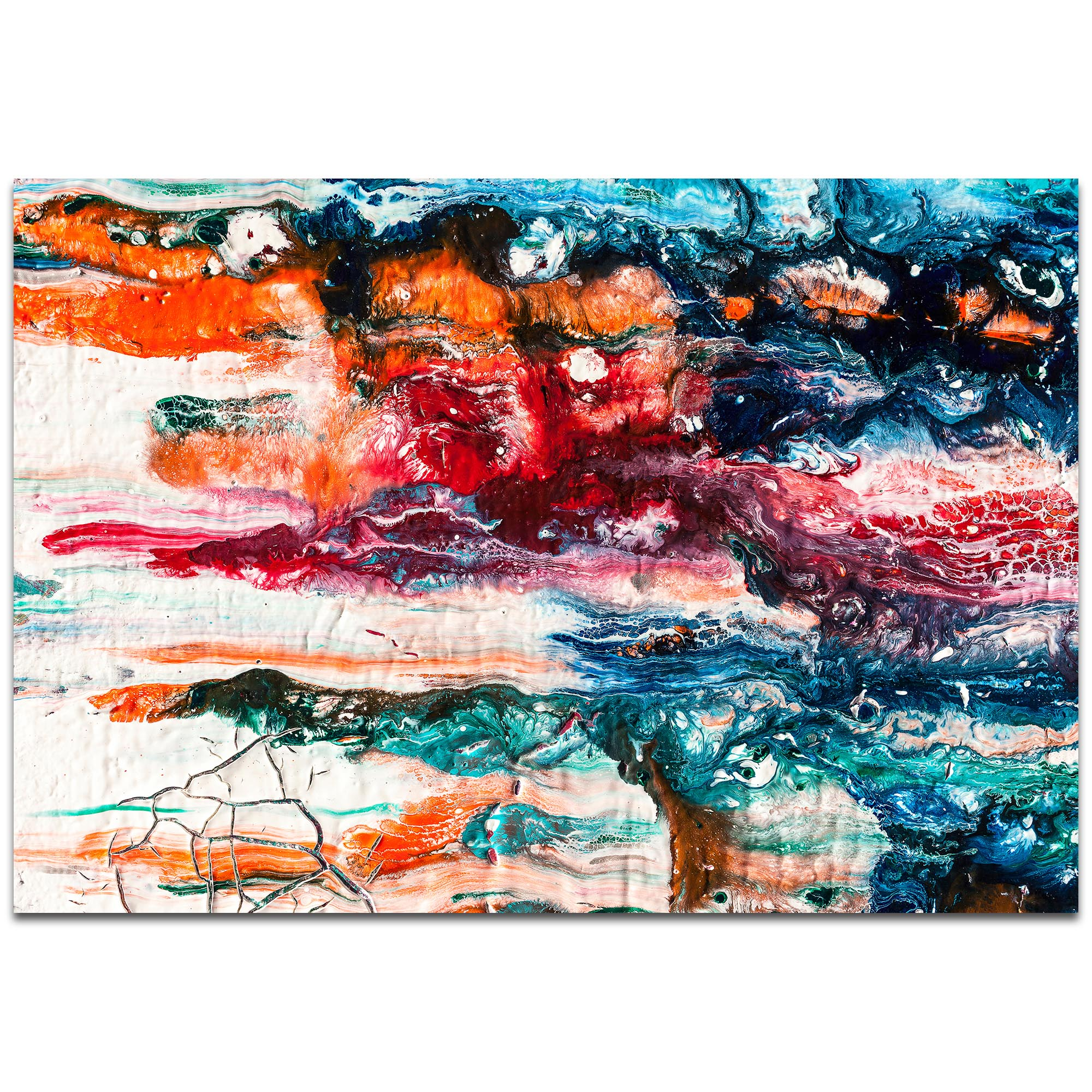Abstract Wall Art 'Sunset On Her Breath 3' - Colorful Urban Decor on Metal or Plexiglass