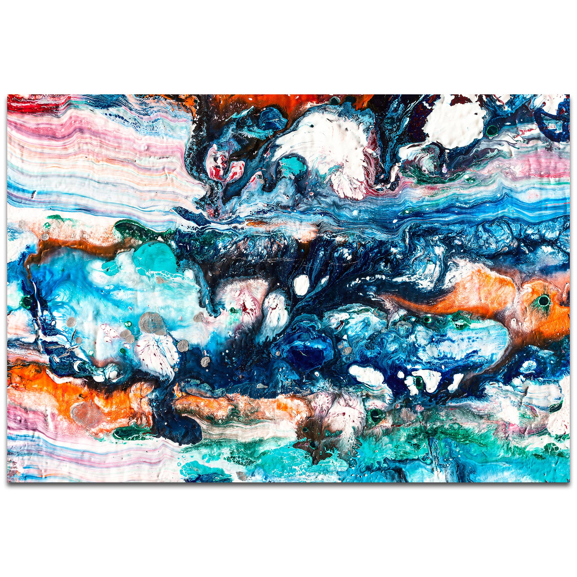 Abstract Wall Art 'Sunset On Her Breath 4' - Colorful Urban Decor on Metal or Plexiglass