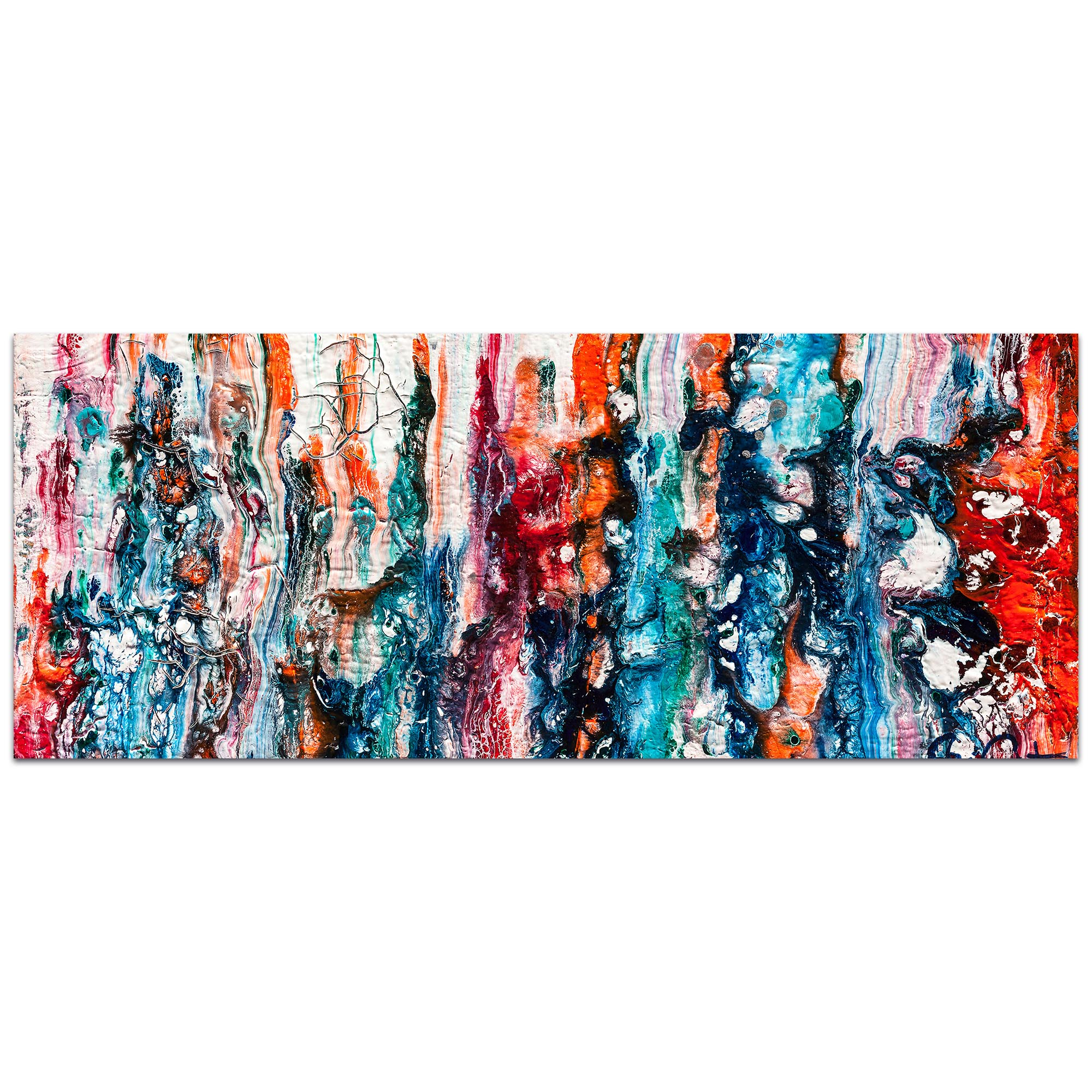 Abstract Wall Art 'Sunset On Her Breath 5' - Colorful Urban Decor on Metal or Plexiglass
