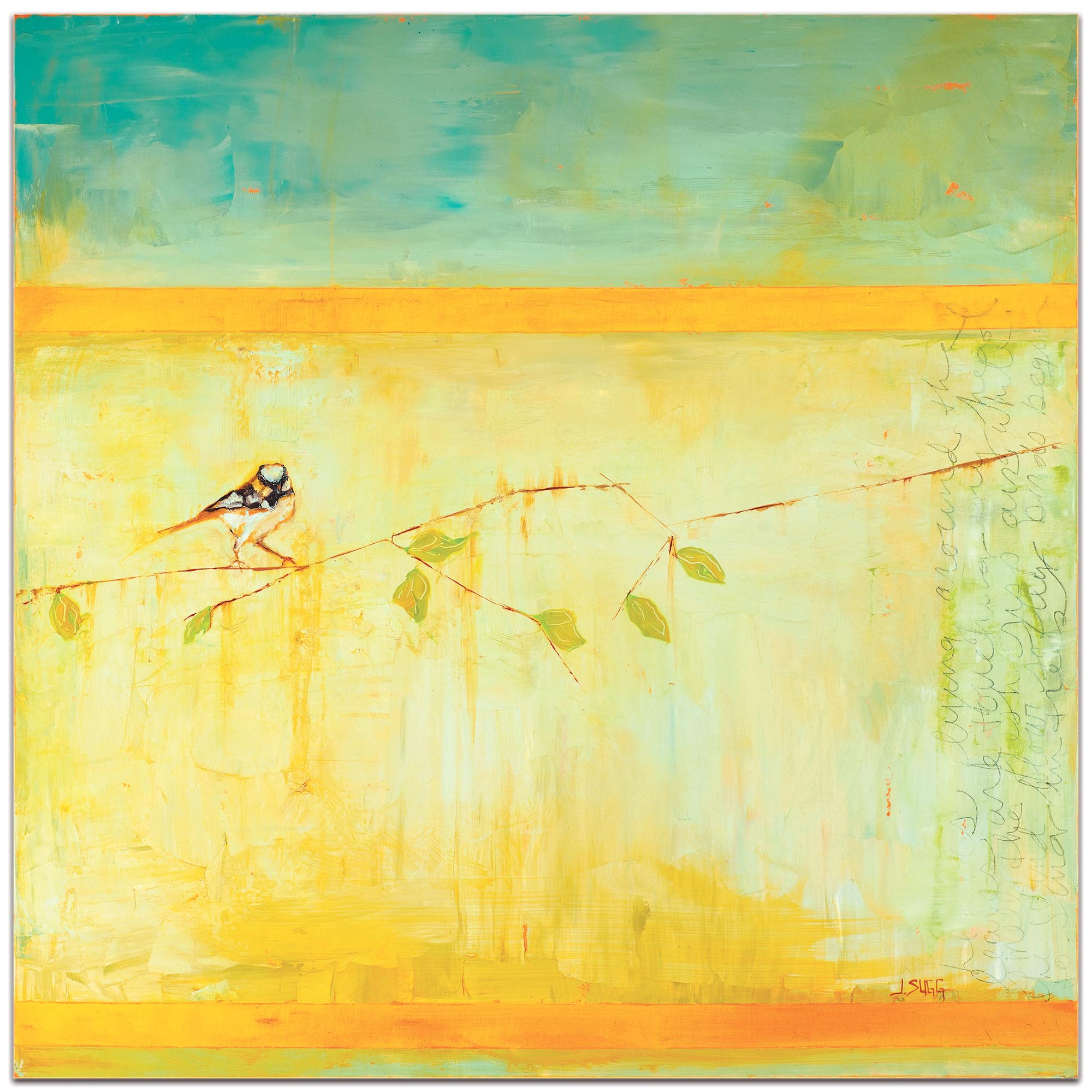 Contemporary Wall Art 'Bird with Horizontal Stripes' - Urban Birds Decor on Metal or Plexiglass - Image 2