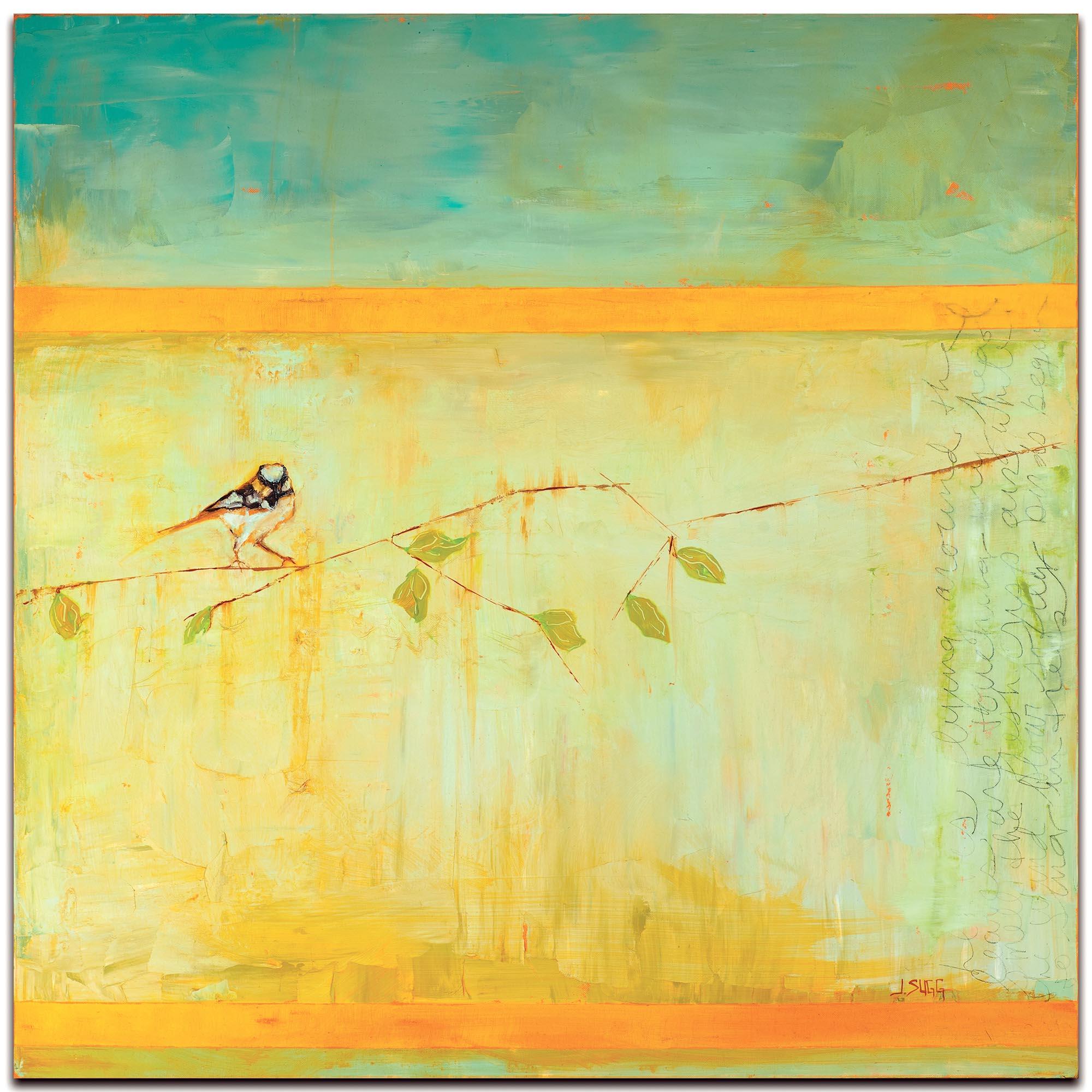 Contemporary Wall Art 'Bird with Horizontal Stripes' - Urban Birds Decor on Metal or Plexiglass