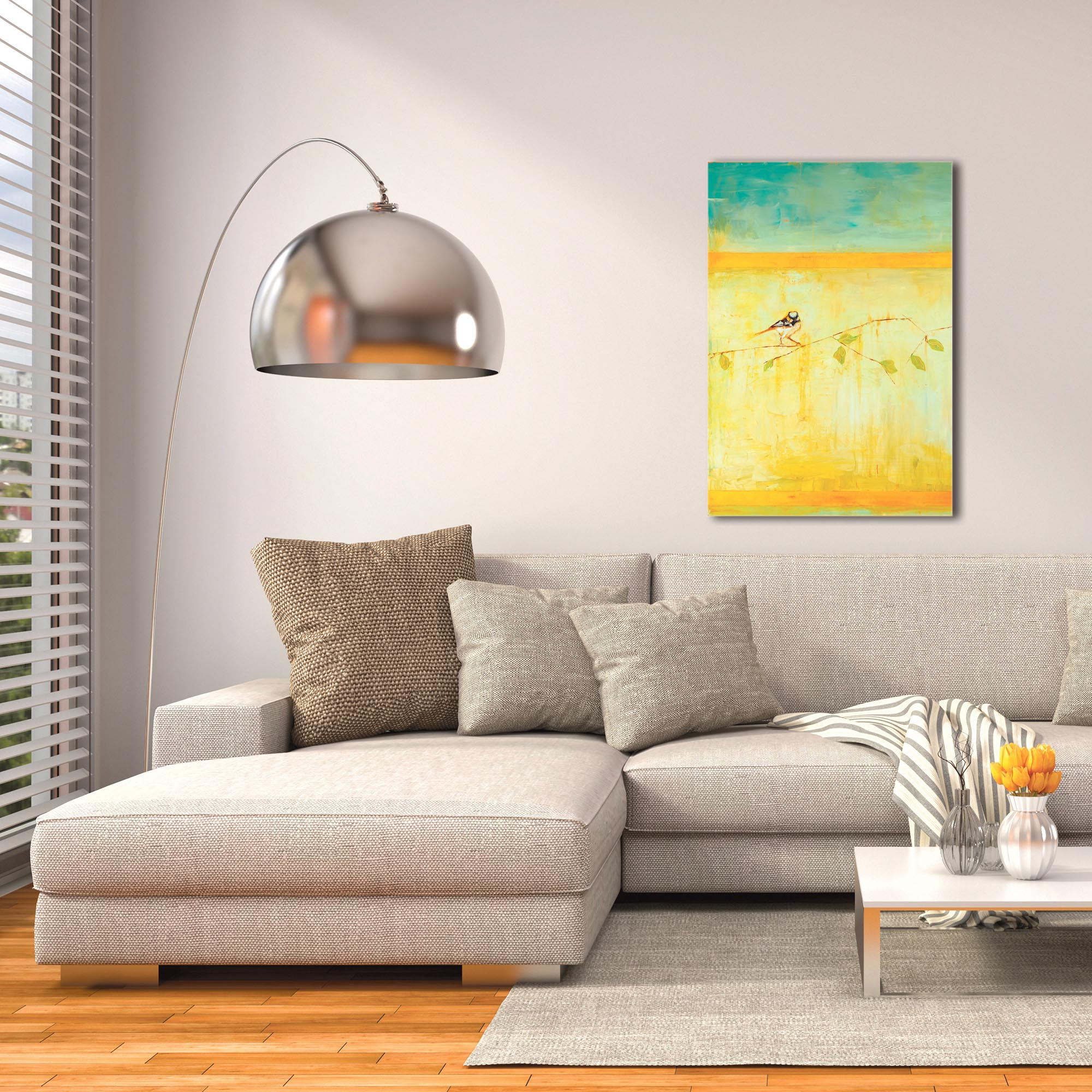 Contemporary Wall Art 'Bird with Horizontal Stripes v2' - Urban Birds Decor on Metal or Plexiglass - Image 3