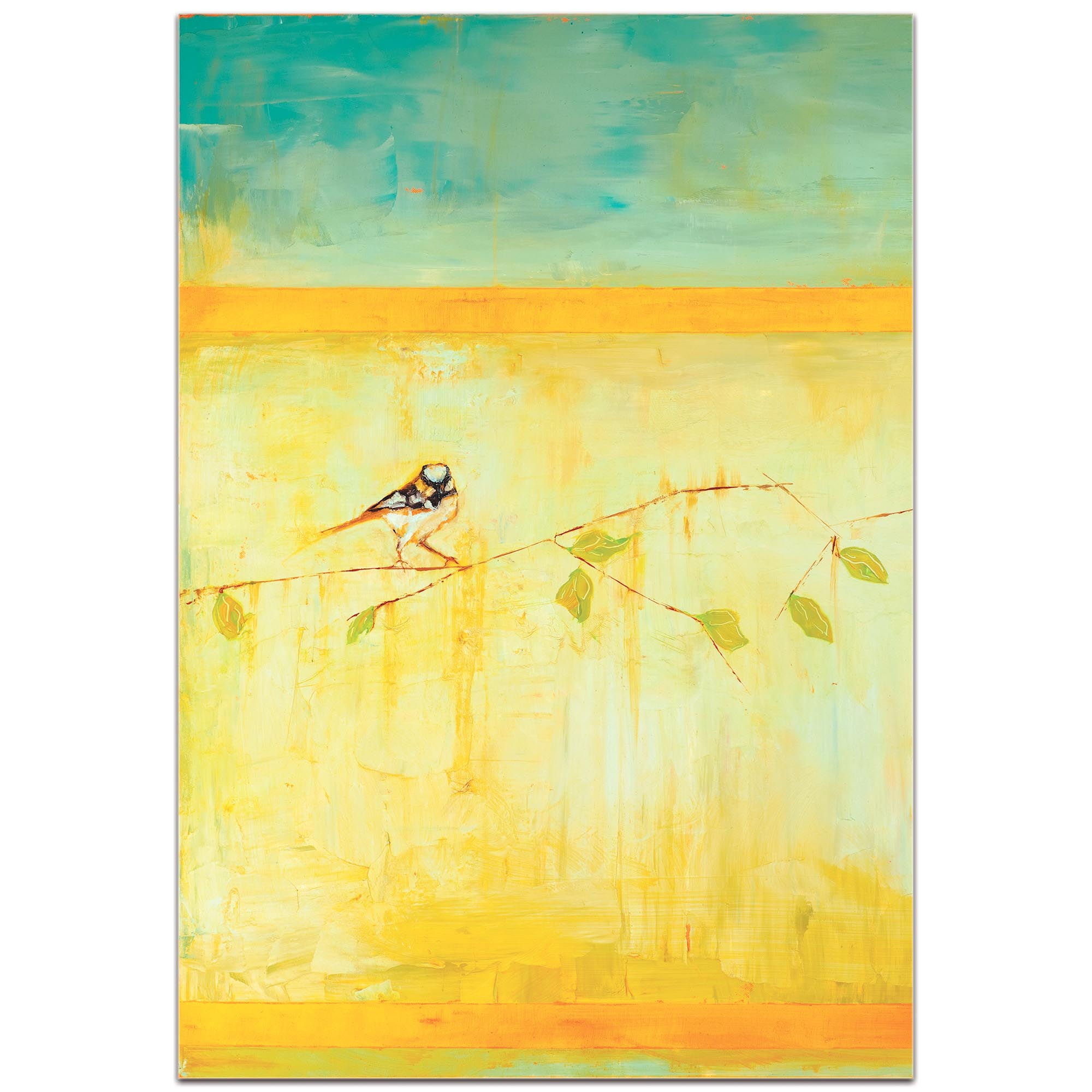 Contemporary Wall Art 'Bird with Horizontal Stripes v2' - Urban Birds Decor on Metal or Plexiglass - Image 2