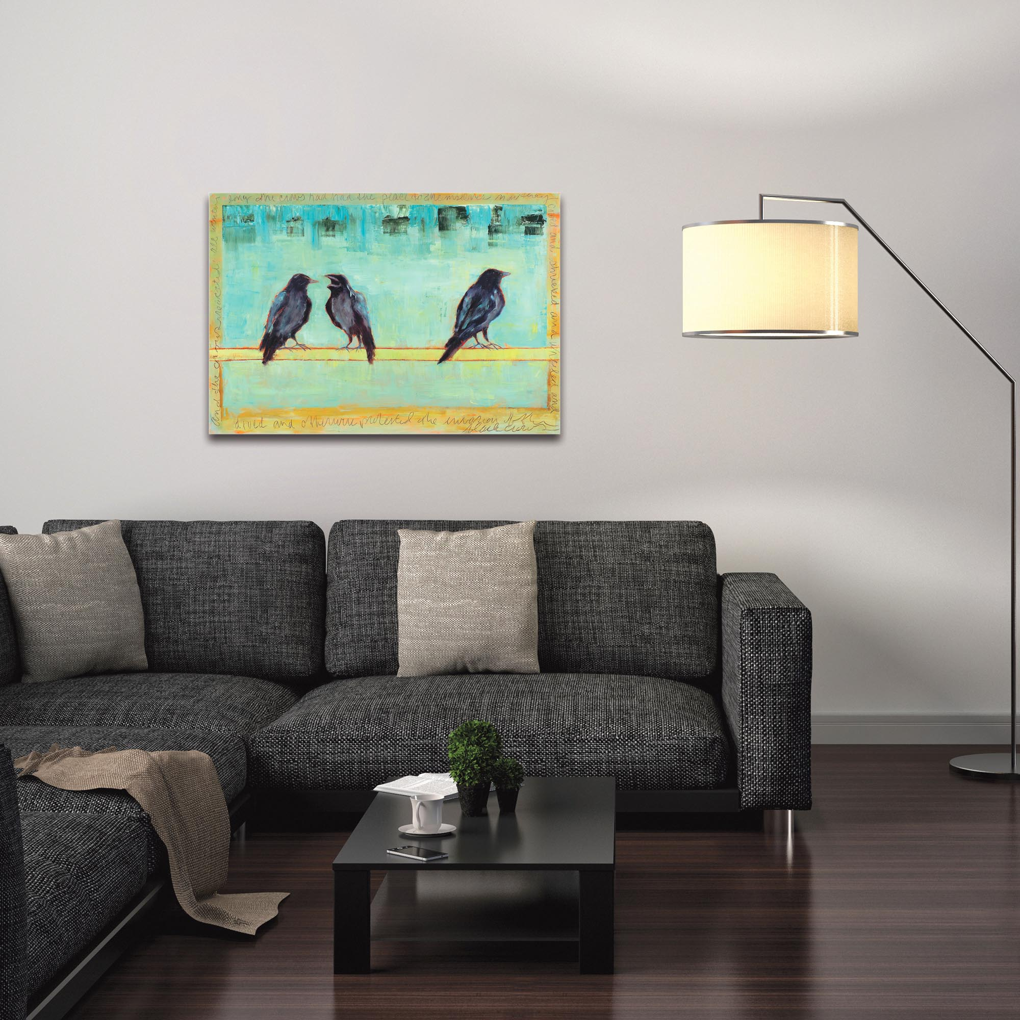 Contemporary Wall Art 'Crow Bar 2' - Urban Birds Decor on Metal or Plexiglass - Image 3