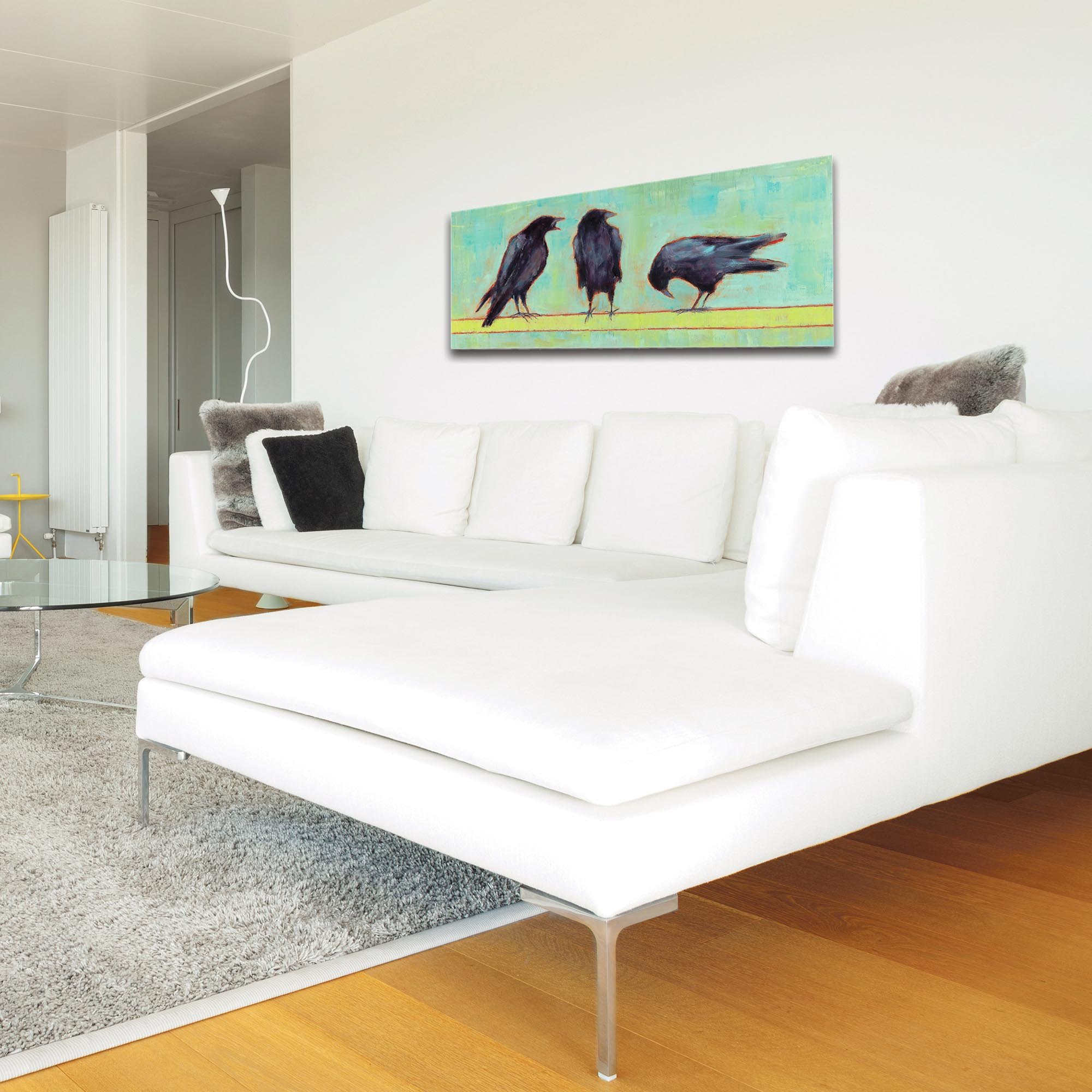 Contemporary Wall Art 'Crow Bar 1 v2' - Urban Birds Decor on Metal or Plexiglass - Image 3