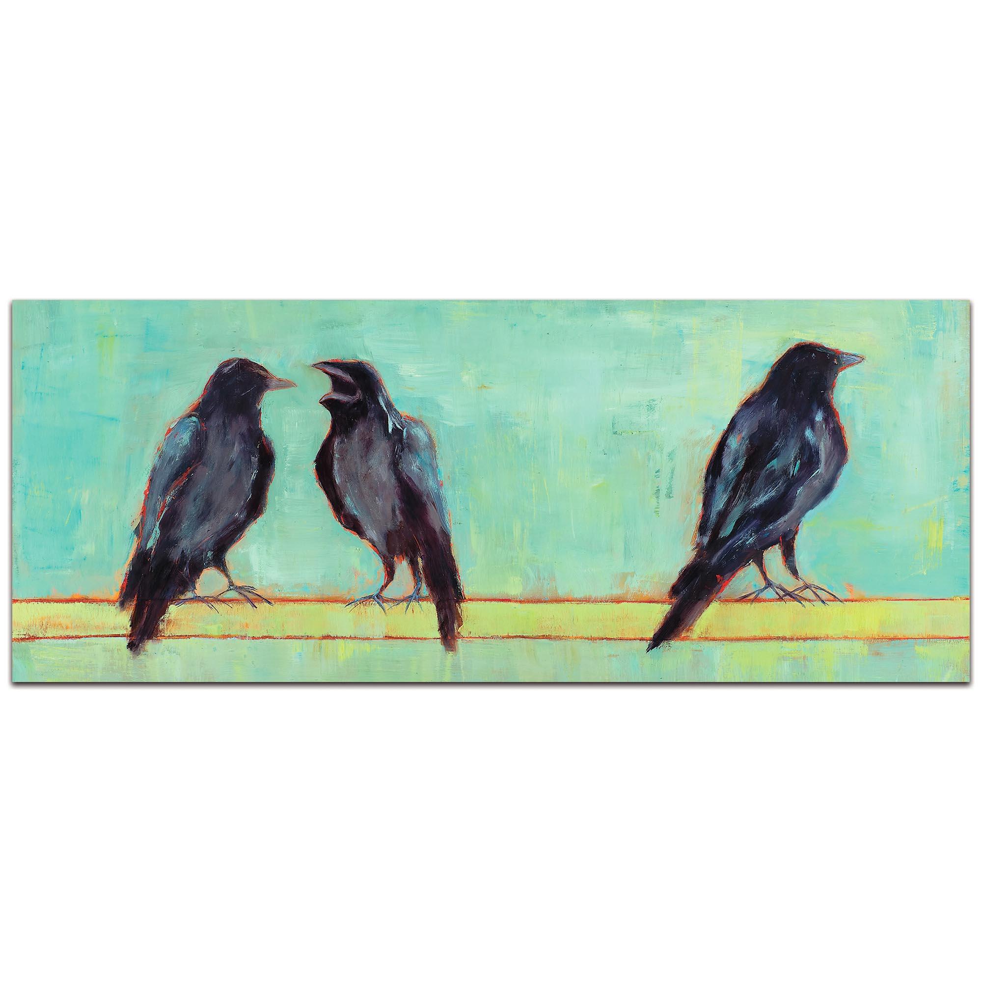 Contemporary Wall Art 'Crow Bar 2 v2' - Urban Birds Decor on Metal or Plexiglass