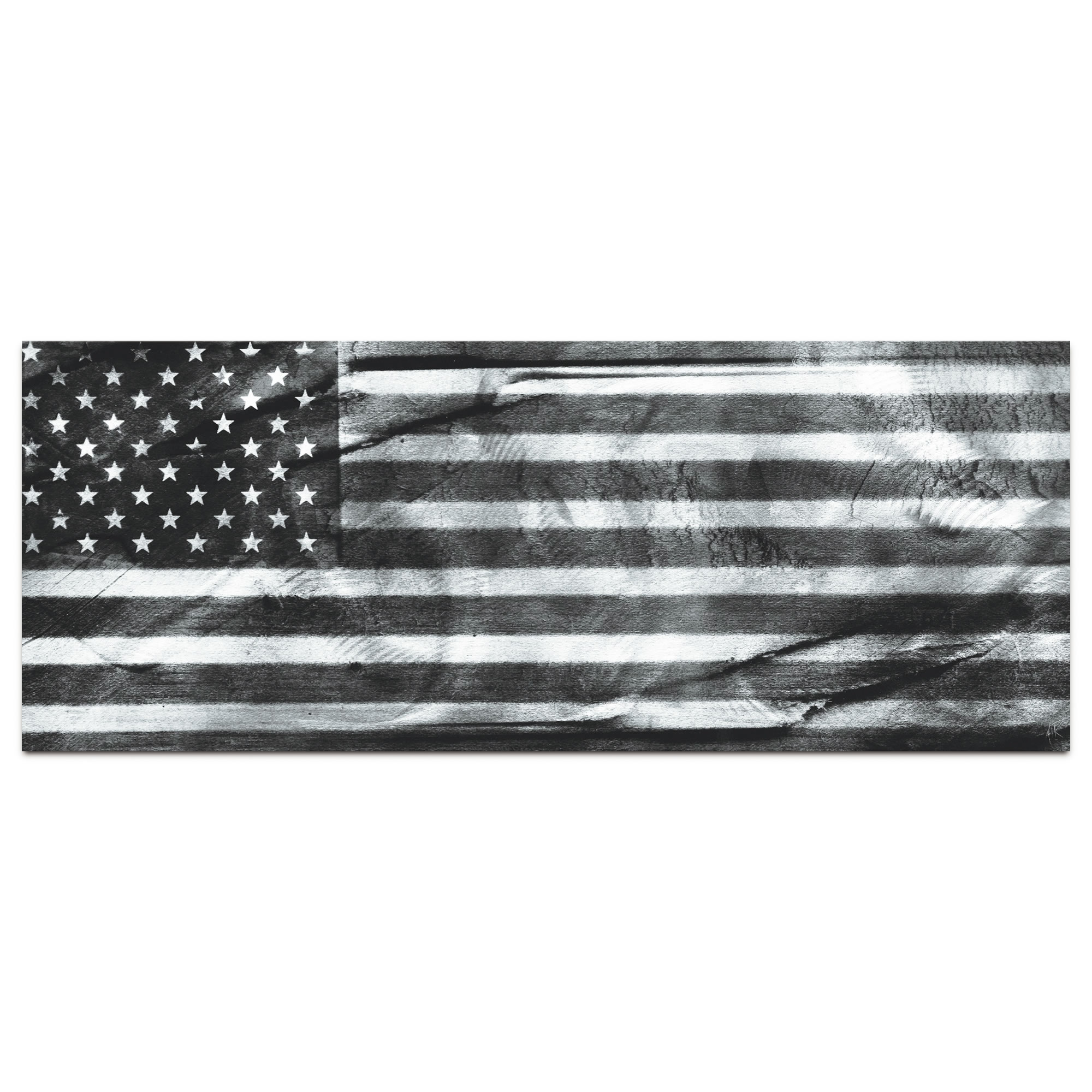 American Glory Black & White - Modern Wall Decor