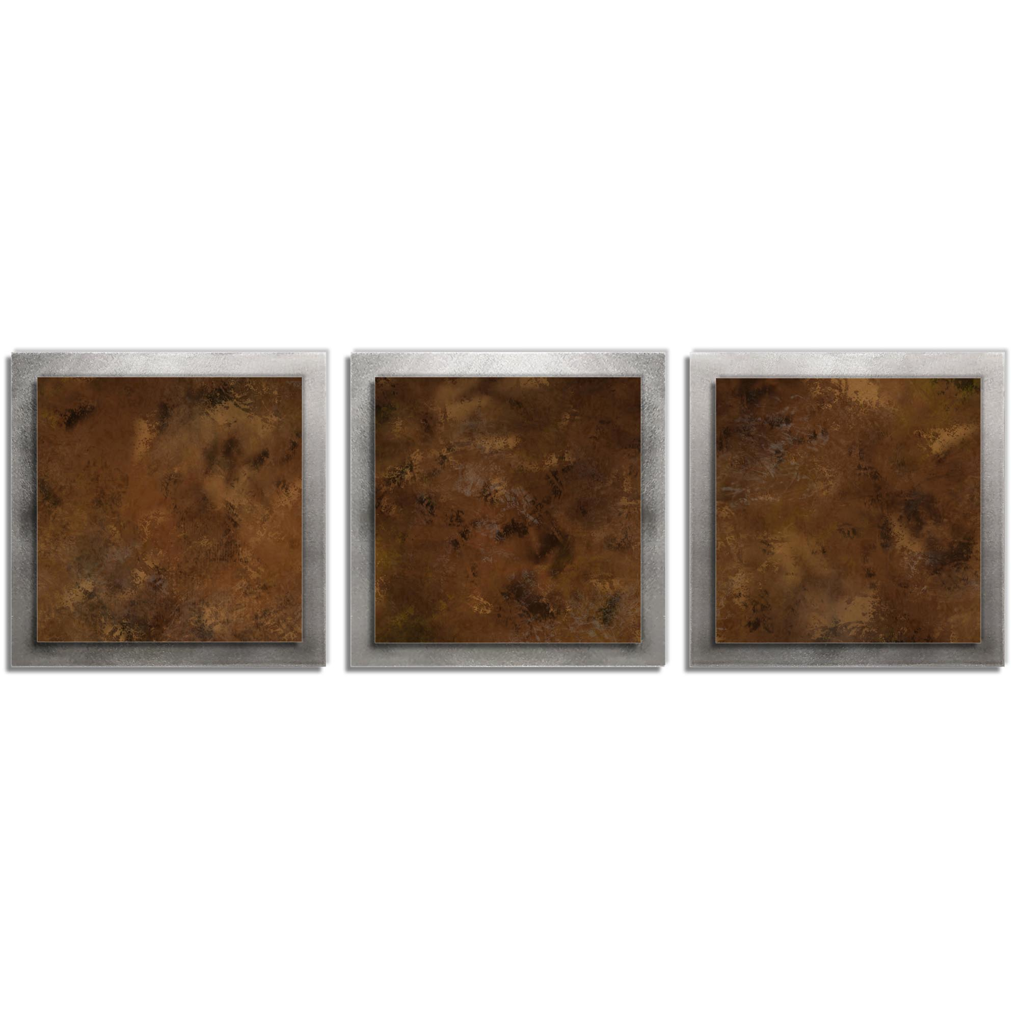 Earth Essence - Layered Modern Metal Wall Art