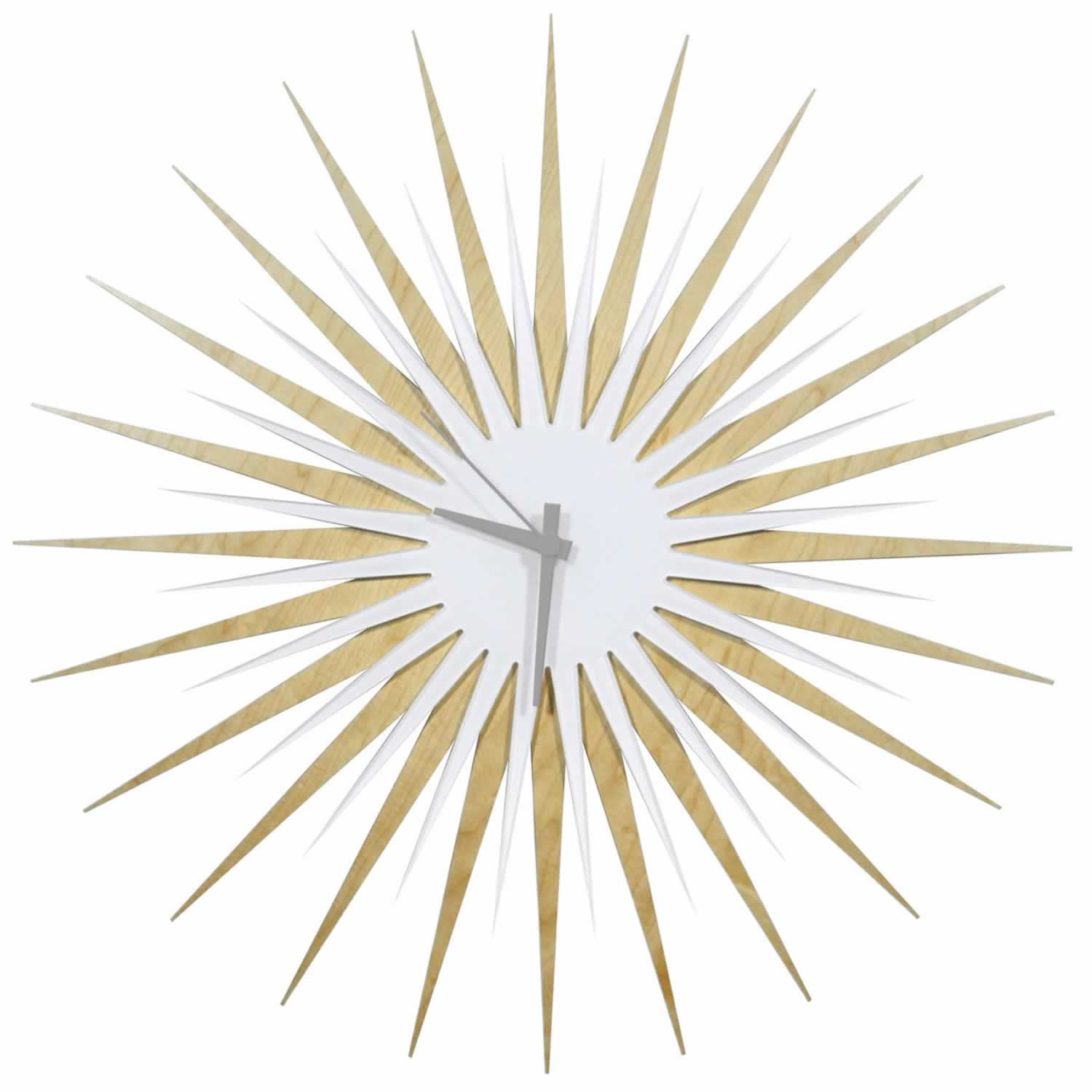 RF Atomic Clock - Maple White/Grey Starburst