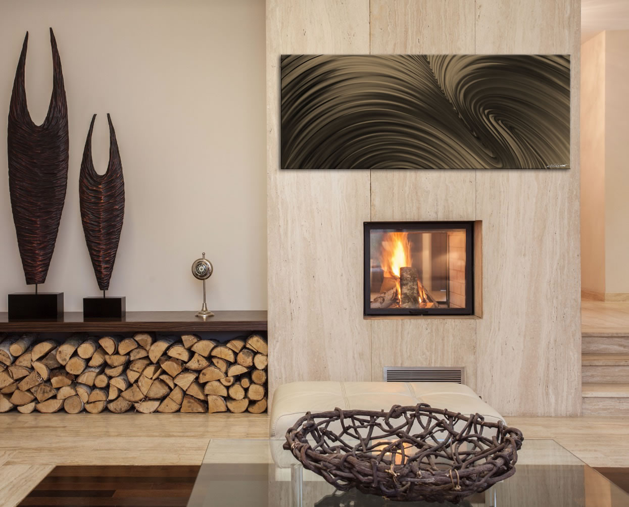Fusion Bronze - Contemporary Metal Wall Art - Lifestyle Image
