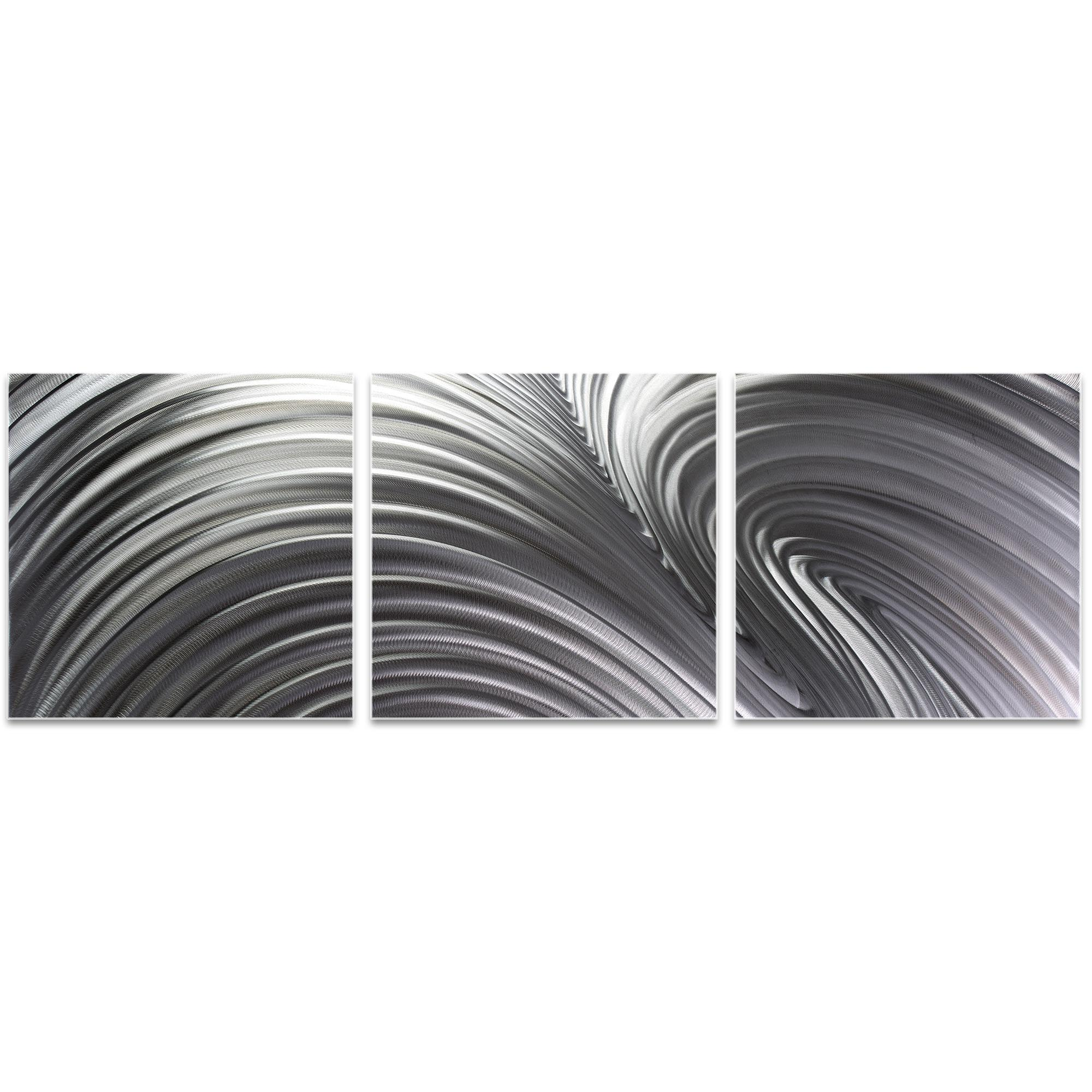Fusion Triptych 38x12in. Metal or Acrylic Contemporary Decor - Image 2