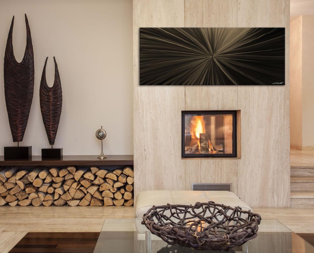 Tantalum Bronze - Contemporary Metal Wall Art - Lifestyle Image