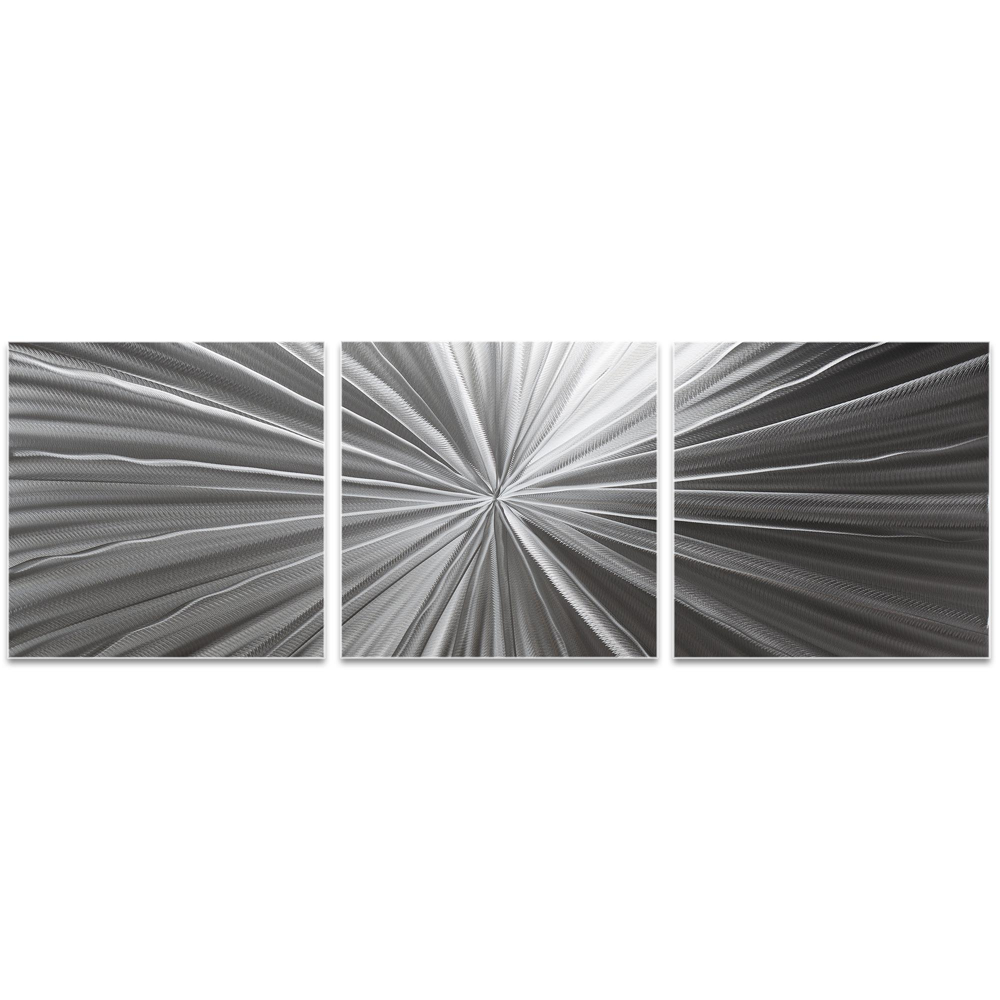 Tantalum Triptych 38x12in. Metal or Acrylic Contemporary Decor - Image 2