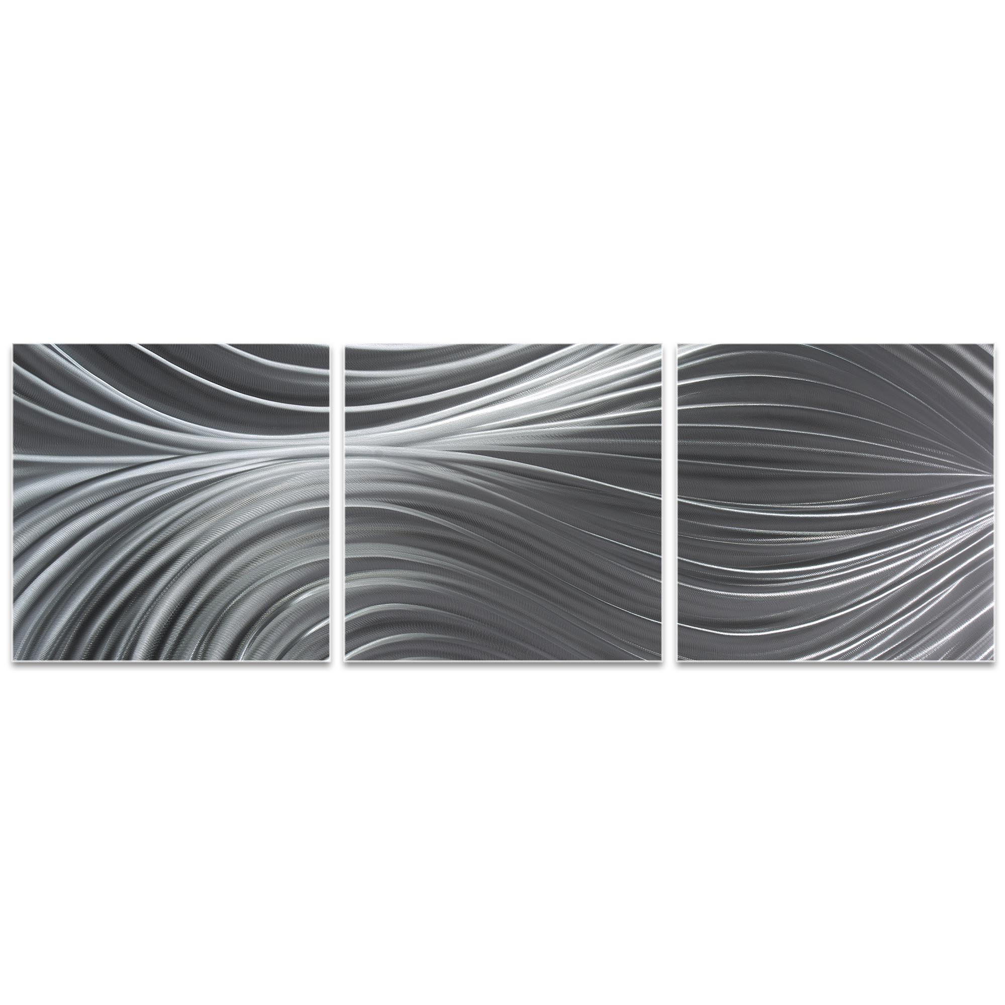 Passing Currents Triptych Large 70x22in. Metal or Acrylic Contemporary Decor - Image 2