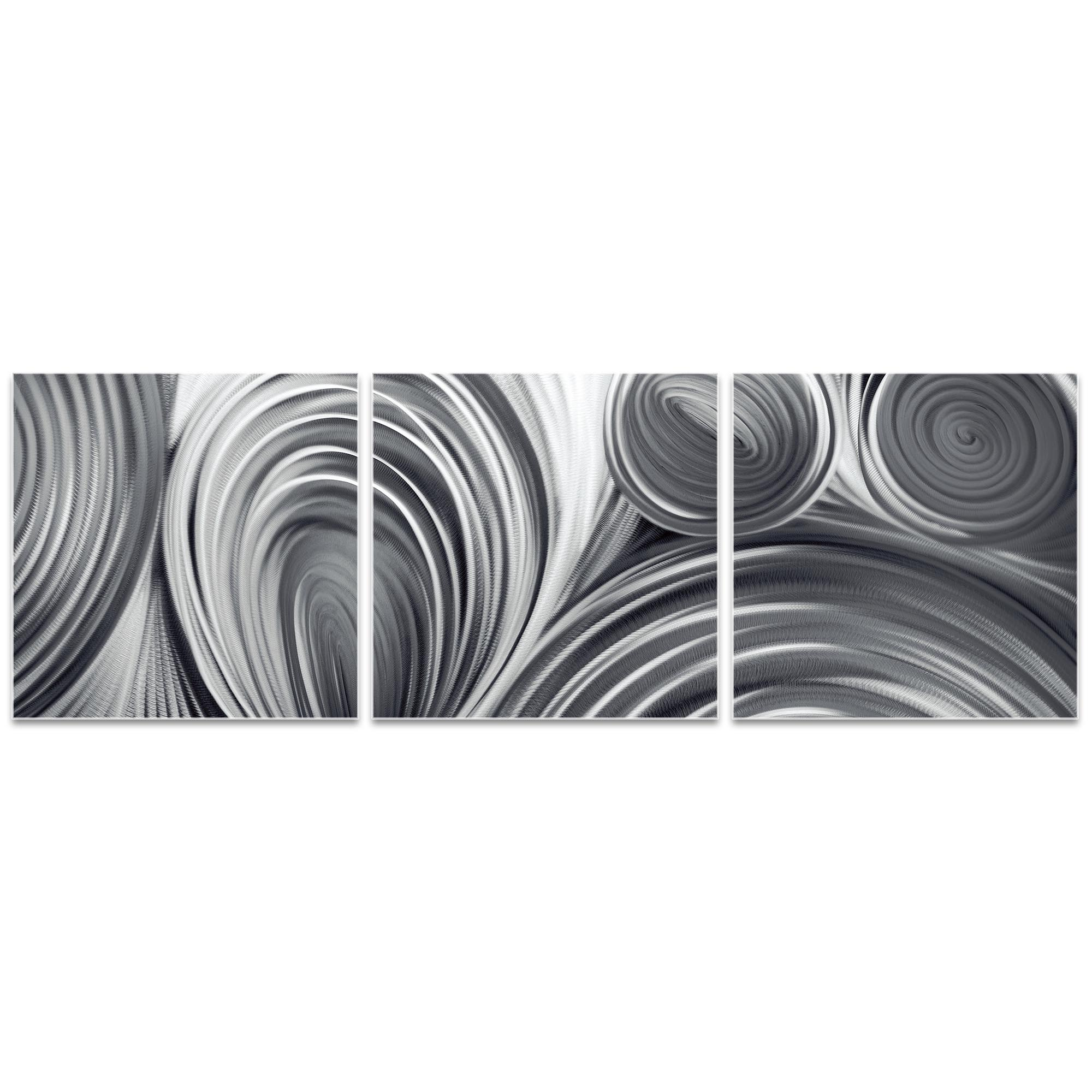 Conduction Triptych 38x12in. Metal or Acrylic Contemporary Decor - Image 2
