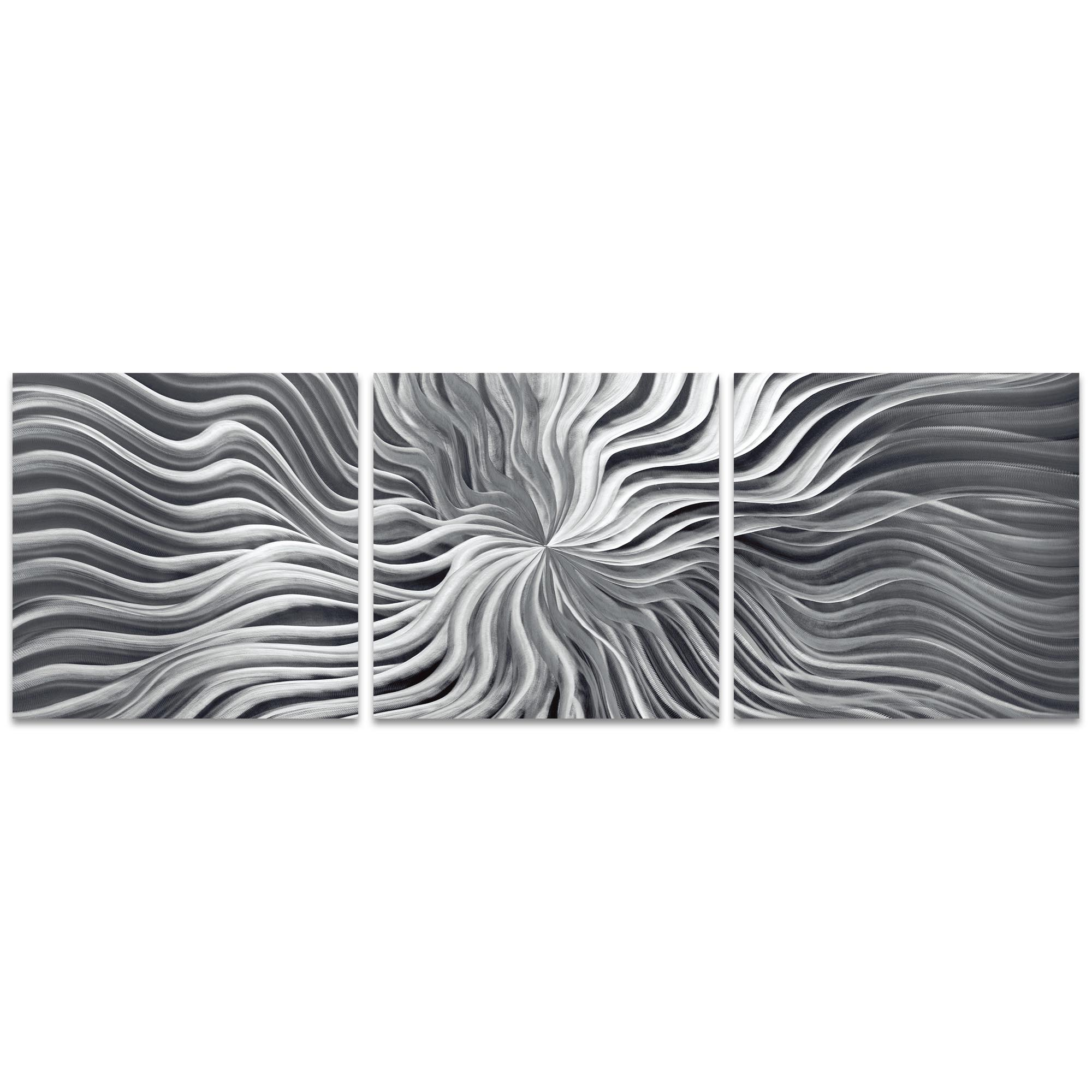 Flexure Triptych 38x12in. Metal or Acrylic Contemporary Decor