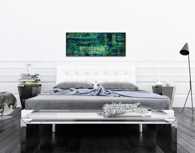 Aporia Blue - Contemporary Metal Wall Art - Lifestyle Image