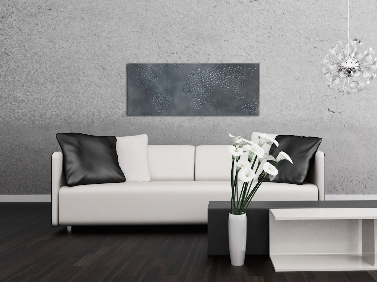 The Water Planet - Contemporary Metal Wall Art - Lifestyle Image