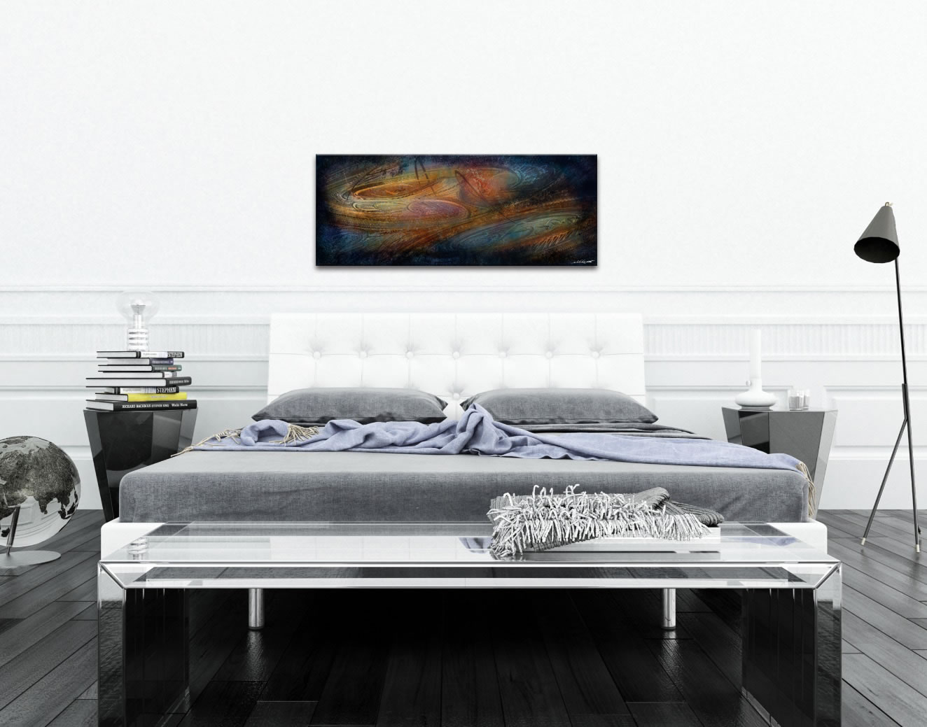 Northern Lights - Contemporary Metal Wall Art - Lifestyle Image