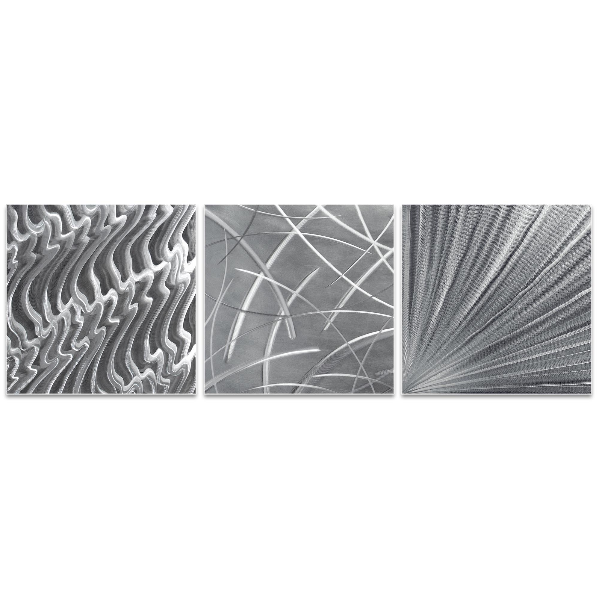 Countless v2 Triptych Large 70x22in. Metal or Acrylic Contemporary Decor - Image 2