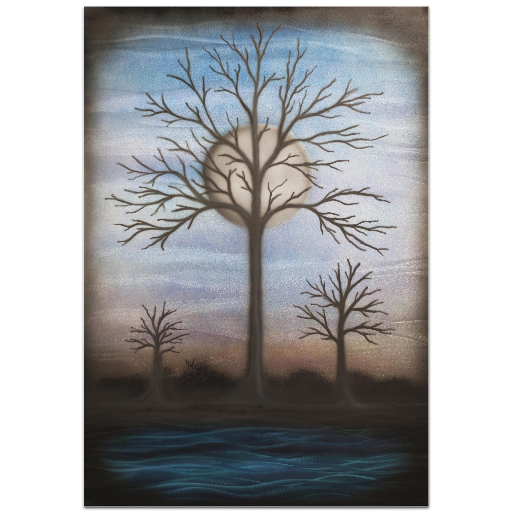 Contemporary Wall Art 'Full Moon' - Bare Trees Decor on Metal or Plexiglass - Image 2