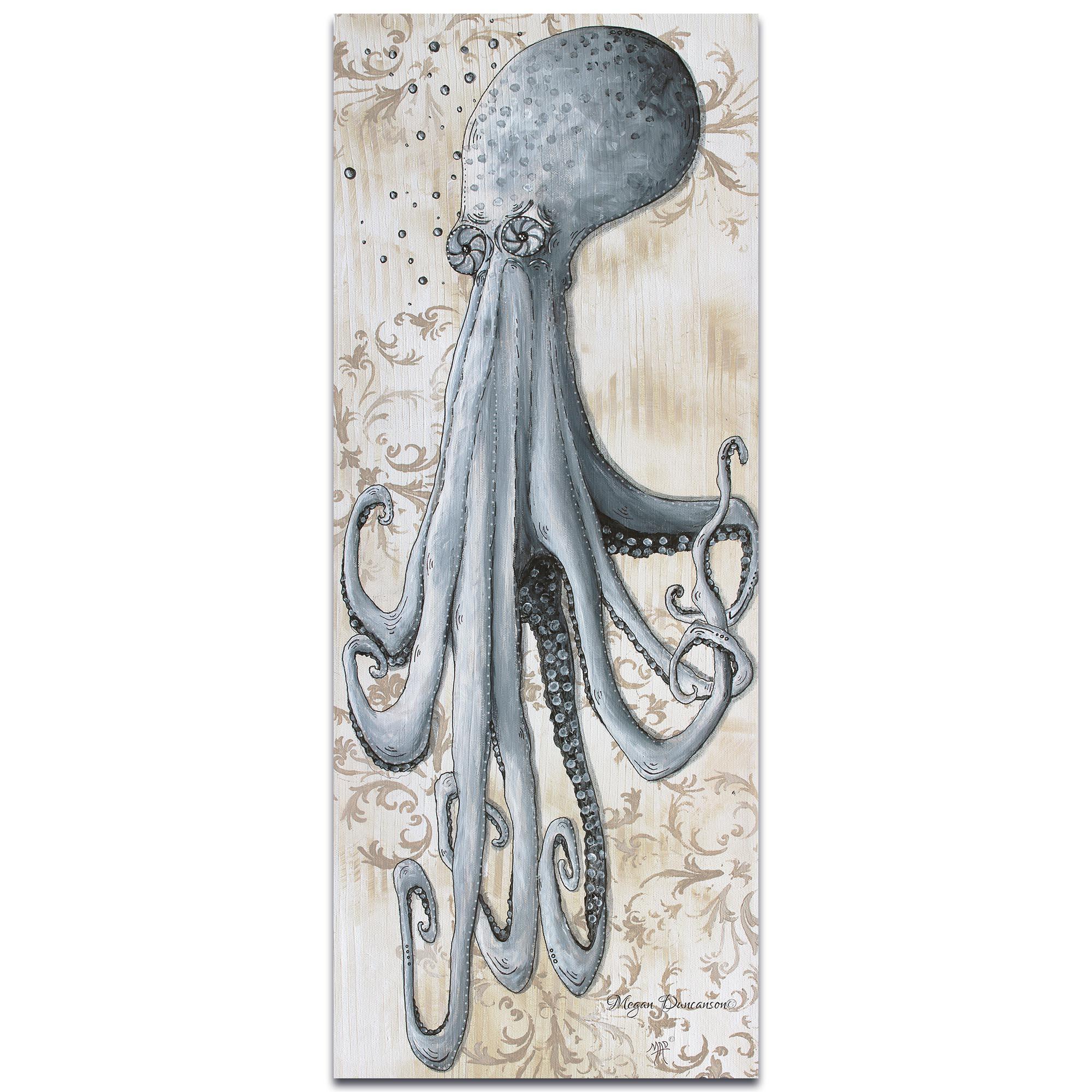Modern Beach Decor 'Depths of the Sea v2' - Coastal Bathroom Art on Metal or Acrylic