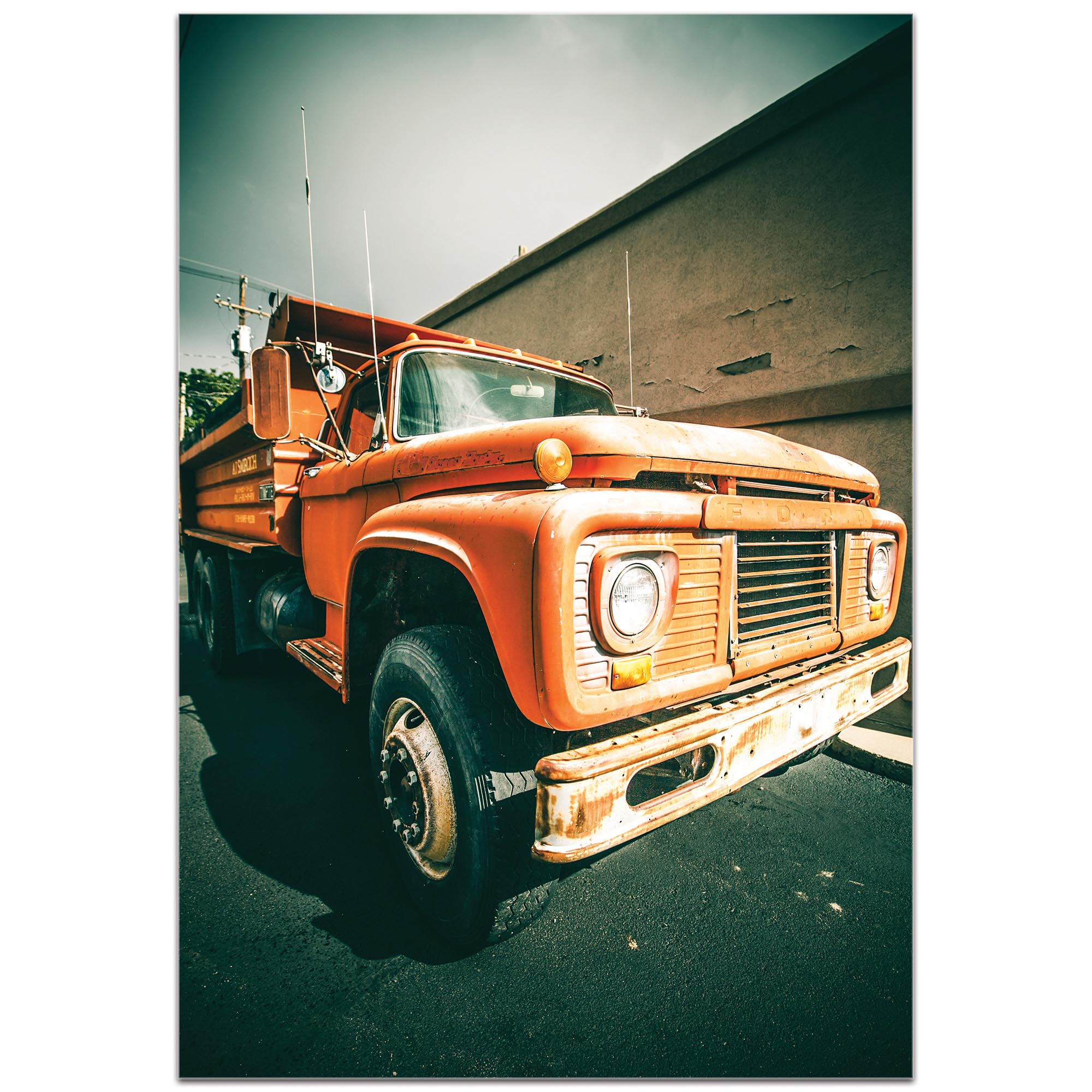 Americana Wall Art 'Old Dump' - Classic Truck Decor on Metal or Plexiglass - Image 2
