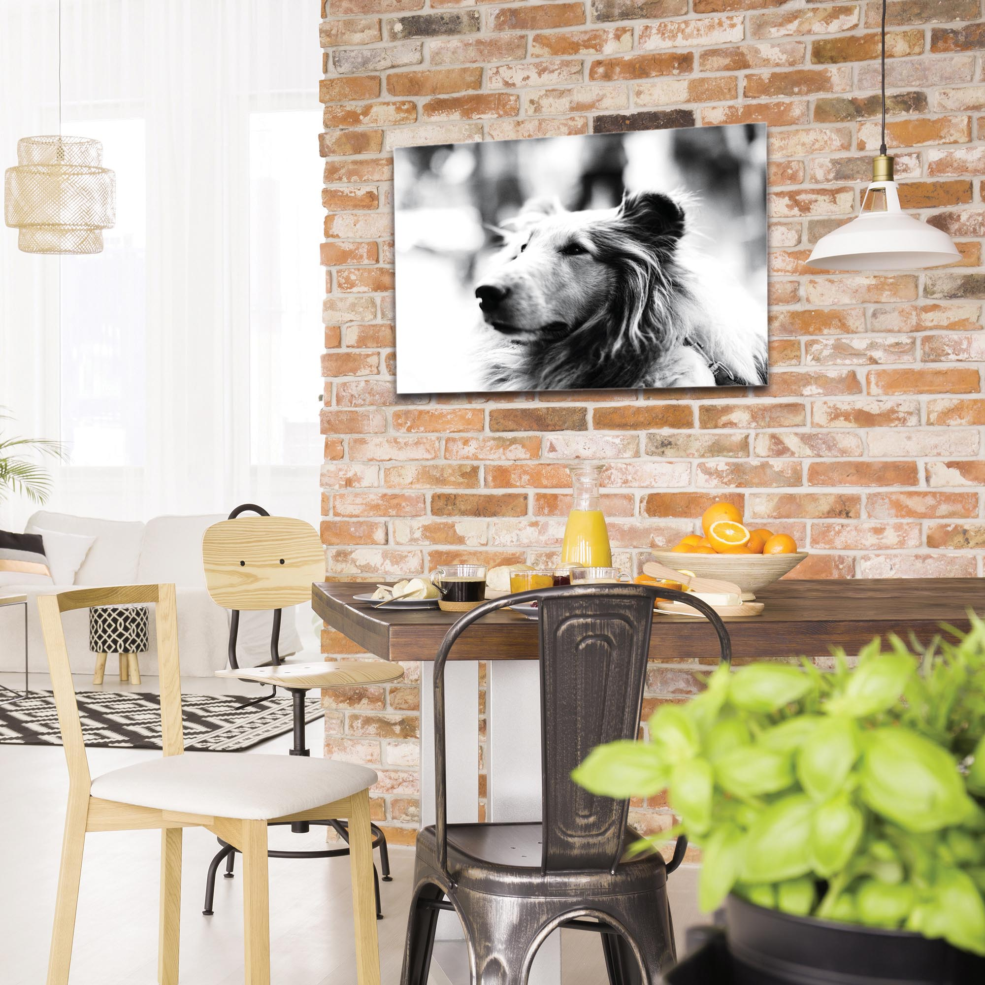 Casual Wall Art 'Loyal Friend' - Wildlife Decor on Metal or Plexiglass - Image 3
