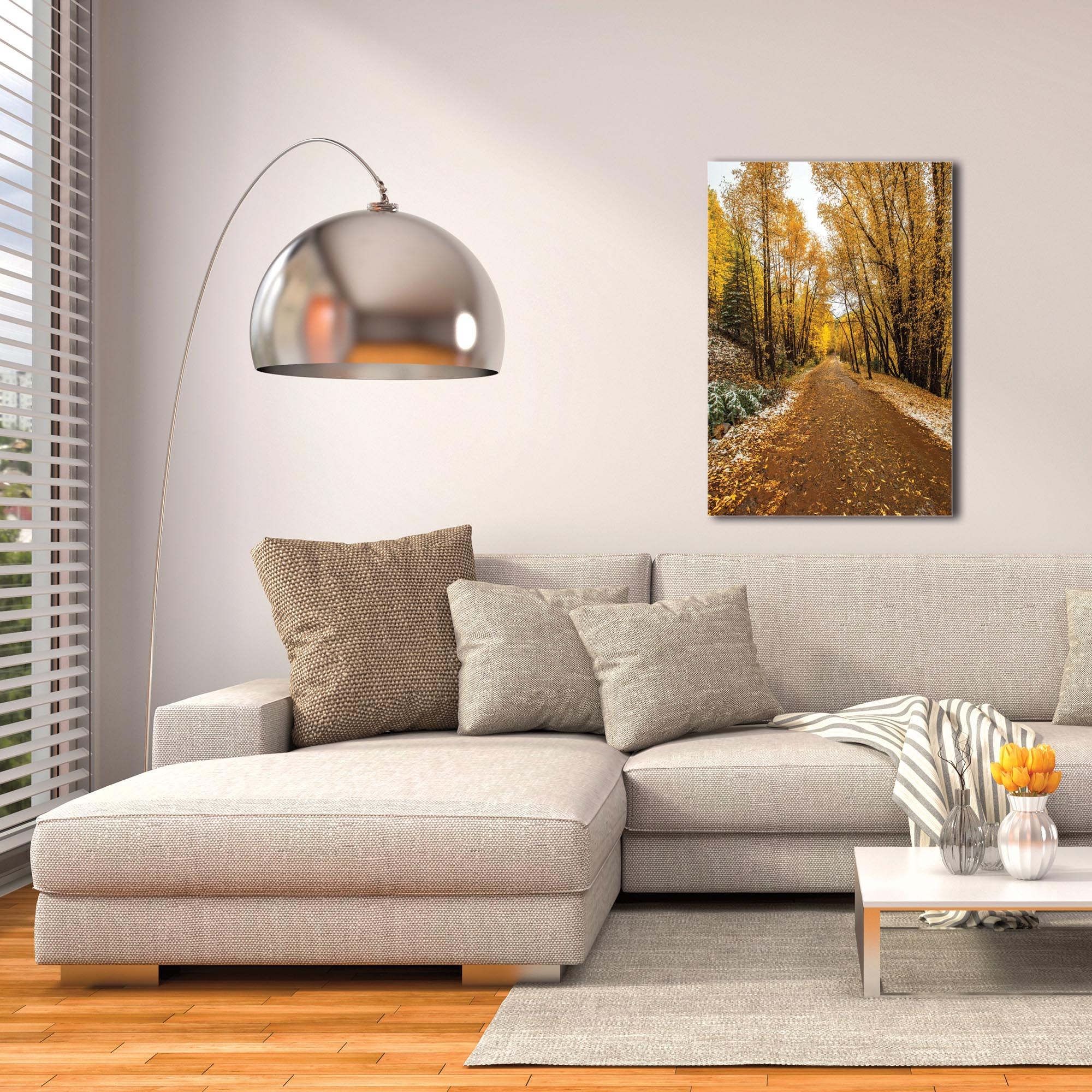 Landscape Photography 'Mountain Pass' - Autumn Trees Art on Metal or Plexiglass - Image 3