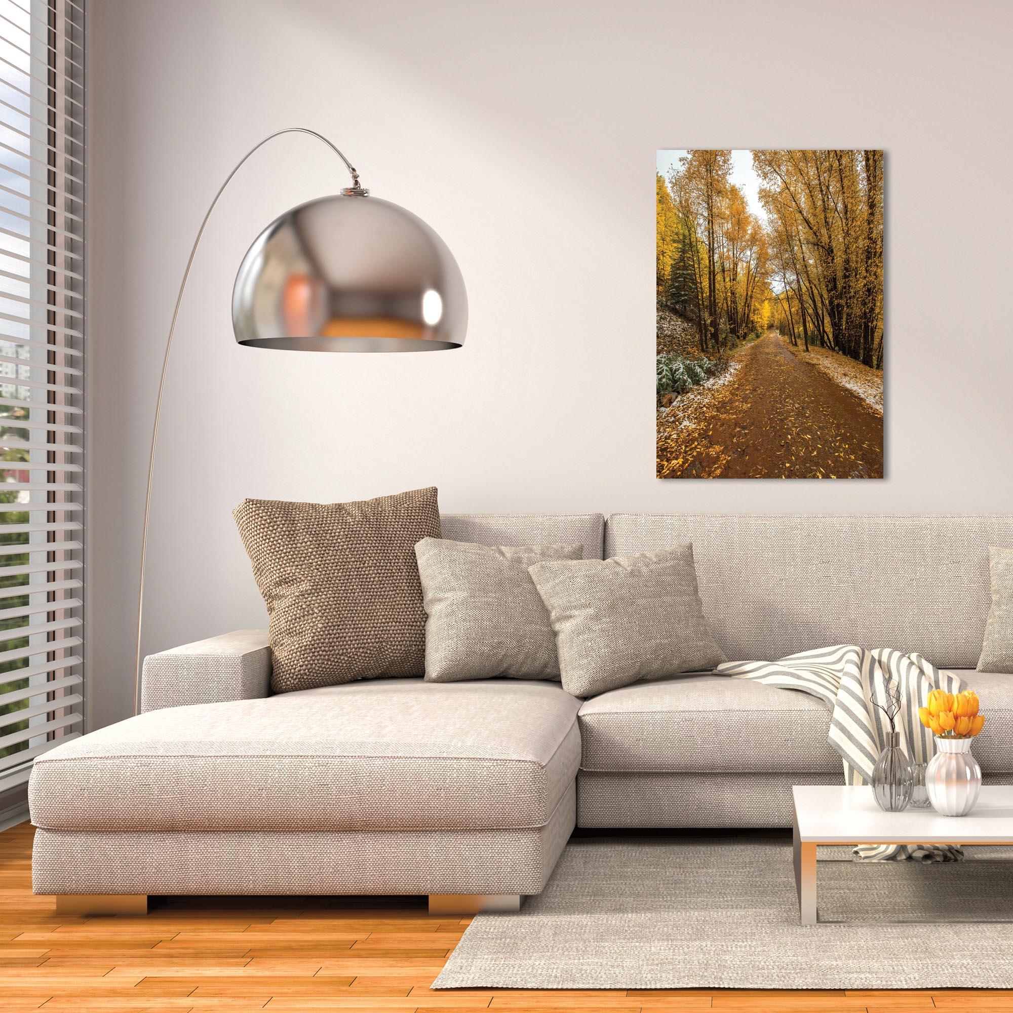 Landscape Photography 'Mountain Pass' - Autumn Trees Art on Metal or Plexiglass - Lifestyle View