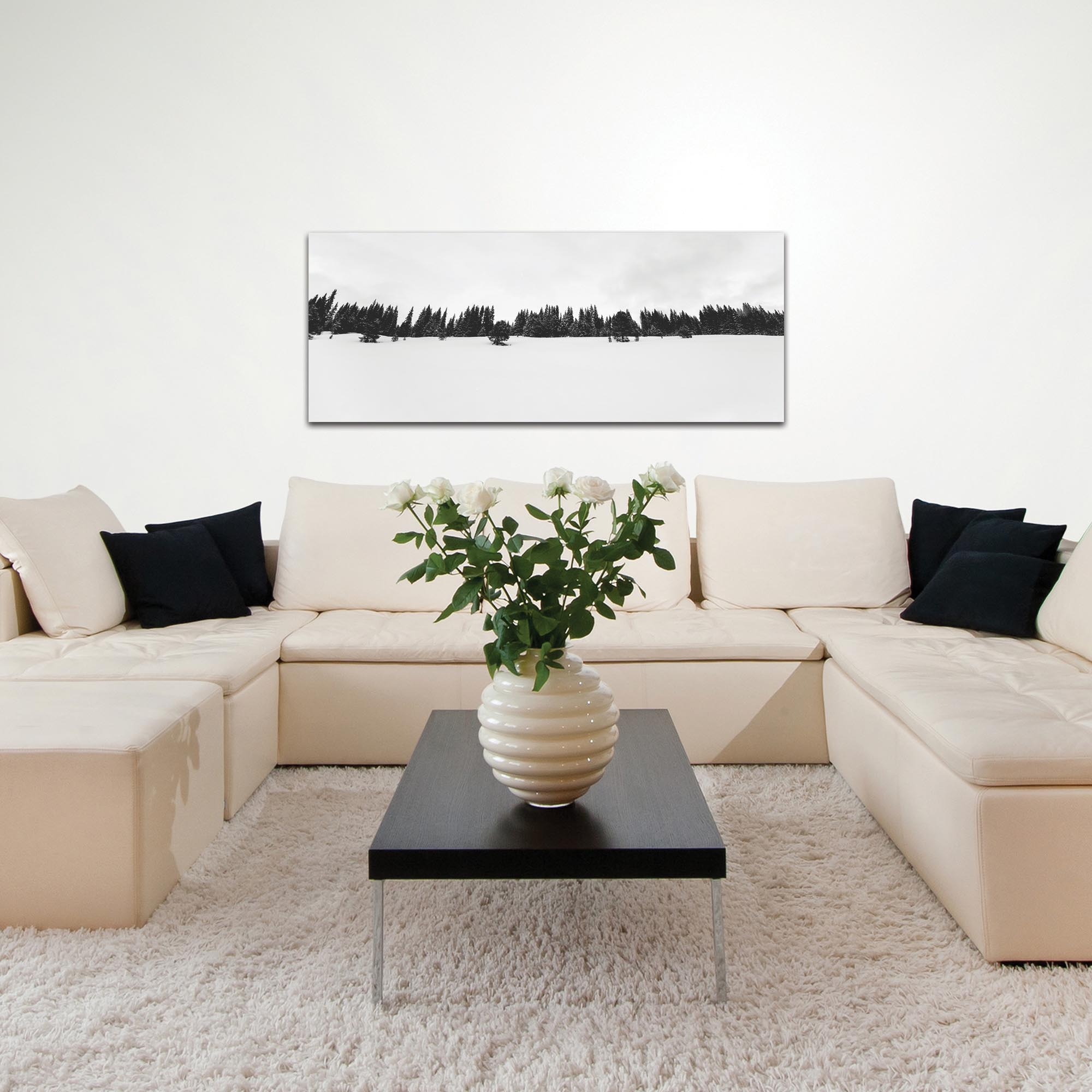 Landscape Photography 'Life Line' - Winter Trees Art on Metal or Plexiglass - Lifestyle View