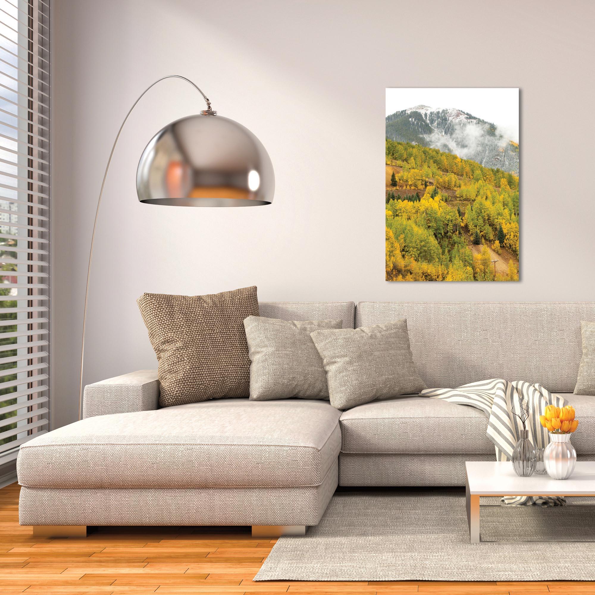 Landscape Photography 'Changing Season' - Autumn Nature Art on Metal or Plexiglass - Lifestyle View