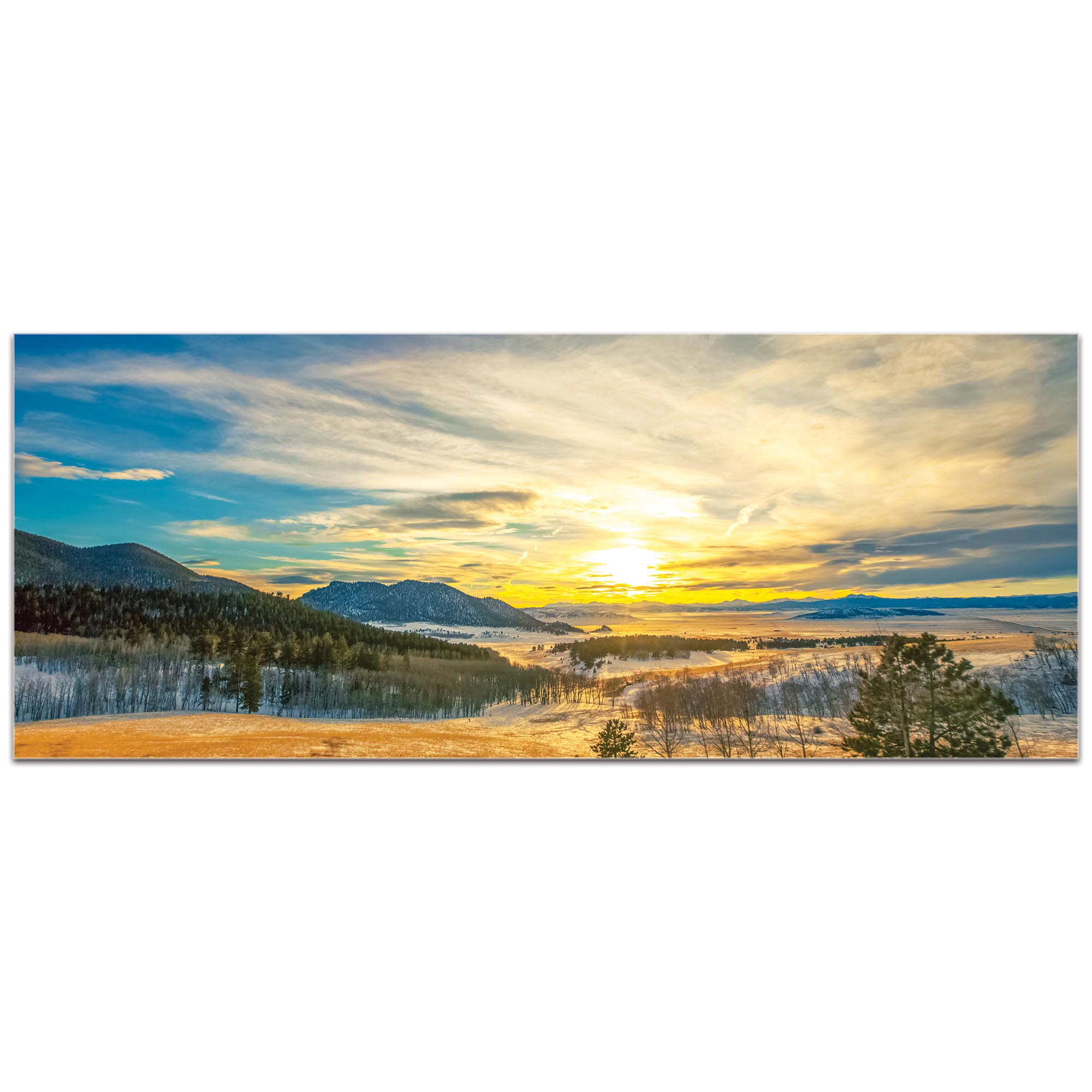 Landscape Photography 'Brisk Sunset' - Winter Sunset Art on Metal or Plexiglass - Image 2