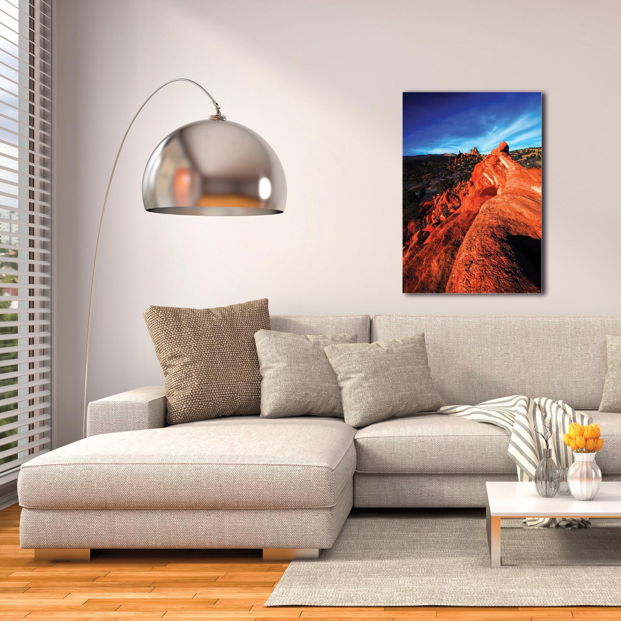Landscape Photography 'Red Ridge' - Desert Scene Art on Metal or Plexiglass - Image 3