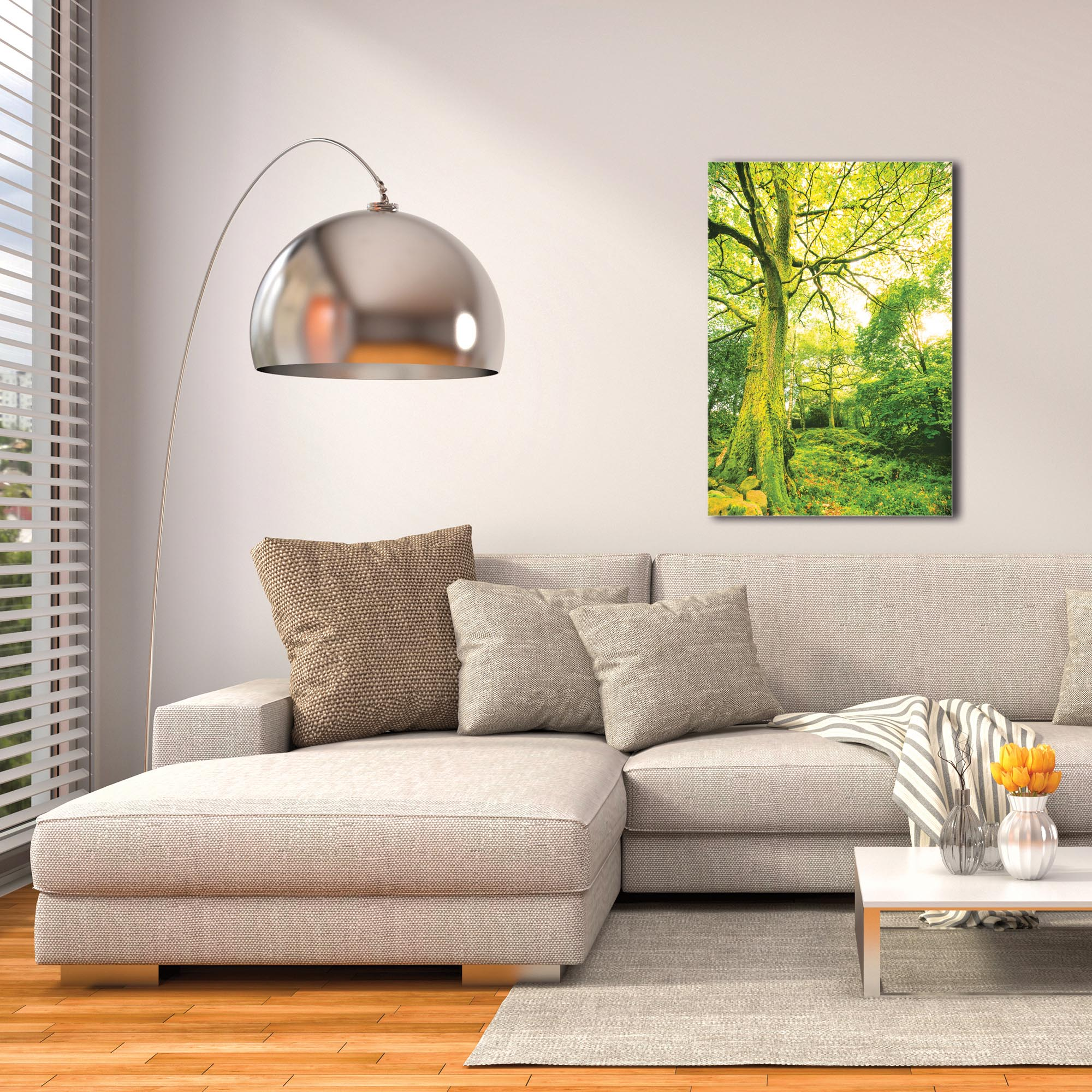 Landscape Photography 'Mossy Grove' - Forest Scene Art on Metal or Plexiglass - Image 3