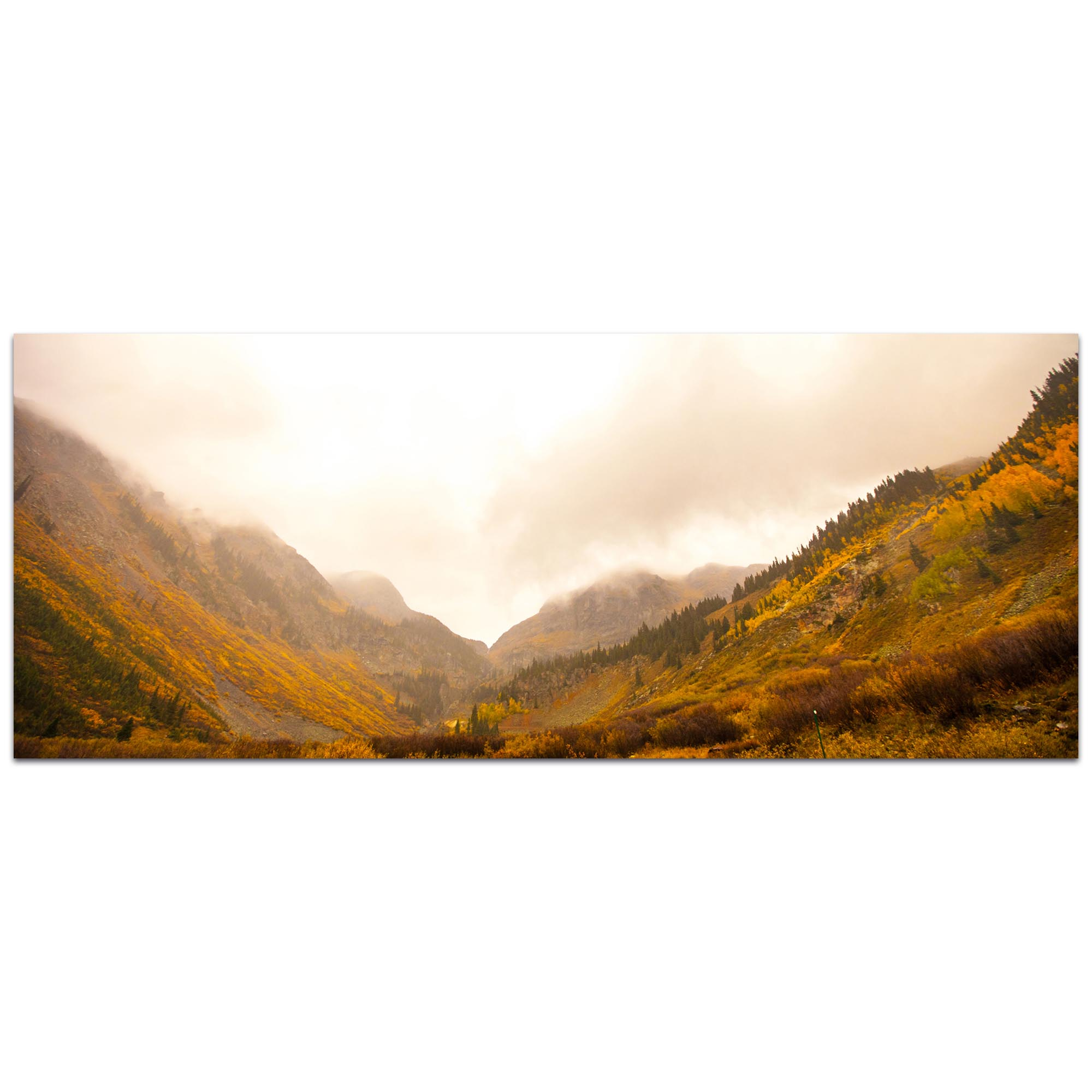 Landscape Photography 'Fog in the Canyon' - Autumn Nature Art on Metal or Plexiglass