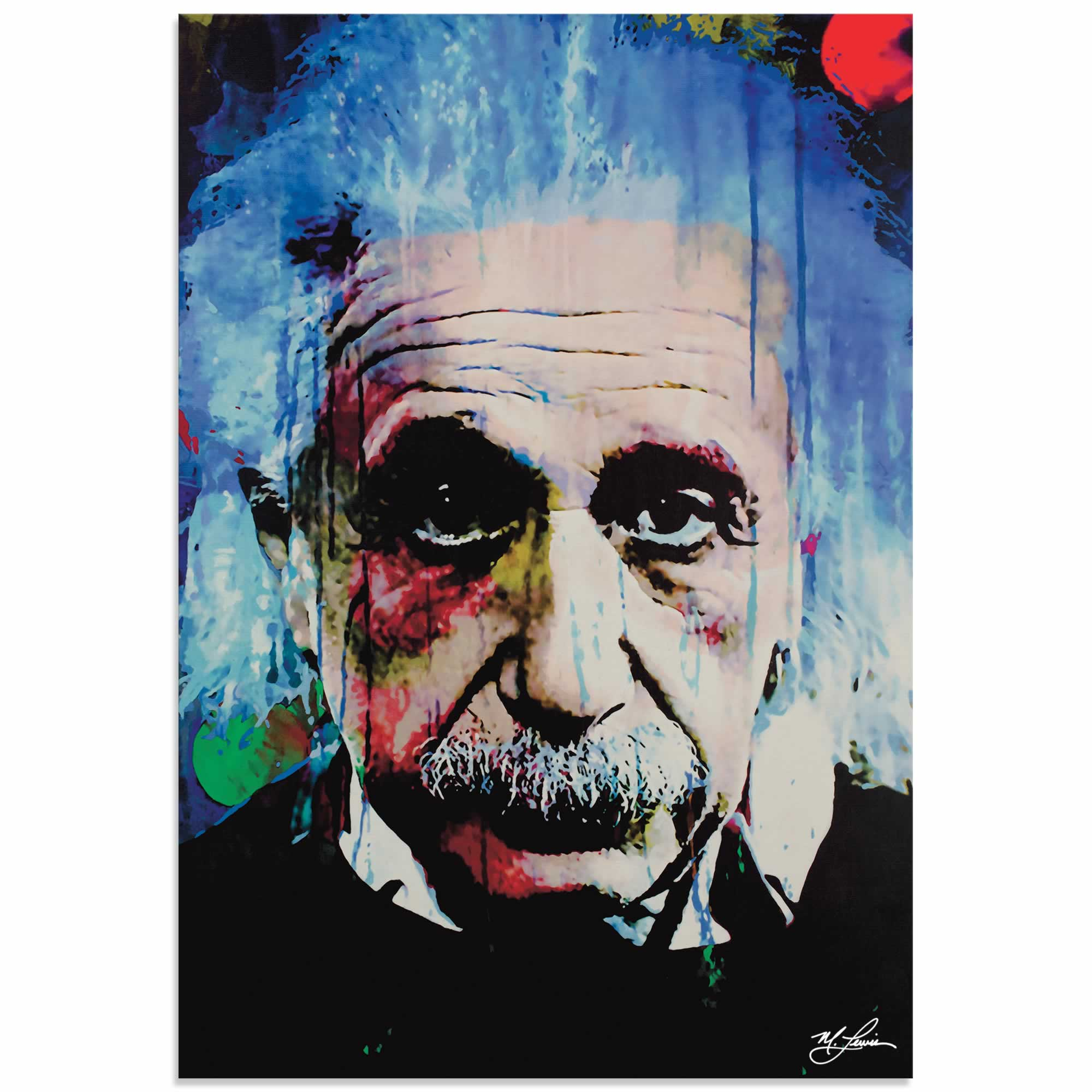 Albert Einstein Questioning Tomorrow | Pop Art Painting by Mark Lewis, Signed & Numbered Limited Edition
