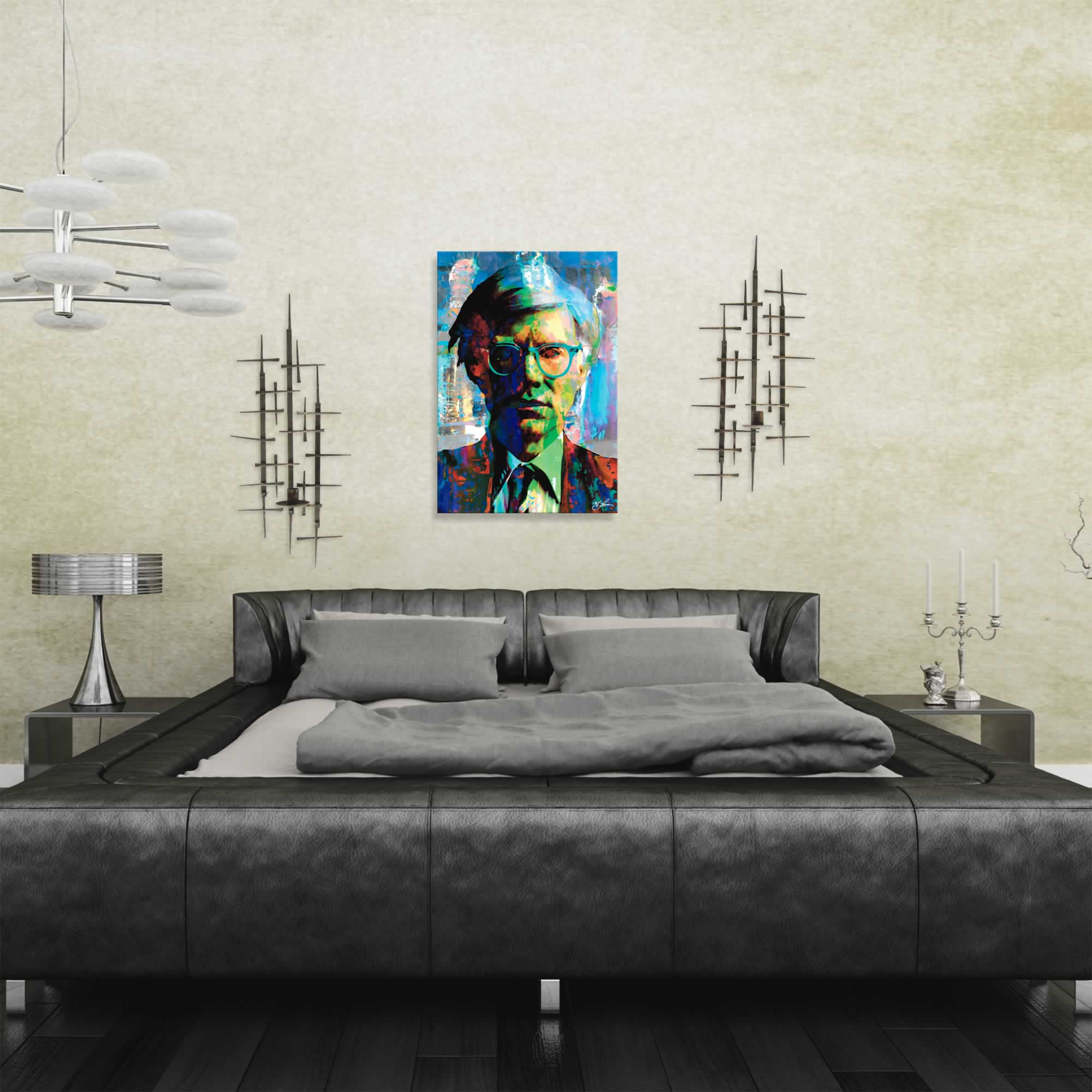Andy Warhol 4 Wise Men | Pop Art Painting by Mark Lewis, Signed & Numbered Limited Edition - ML0008