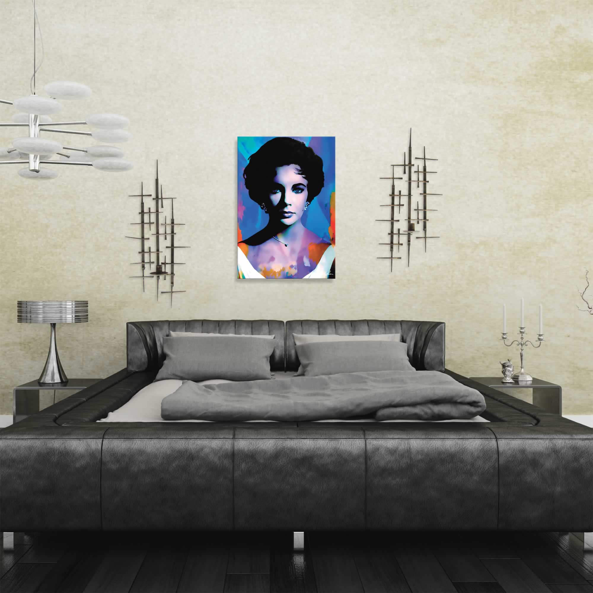Elizabeth Taylor The Color of Passion | Pop Art Painting by Mark Lewis, Signed & Numbered Limited Edition - ML0012