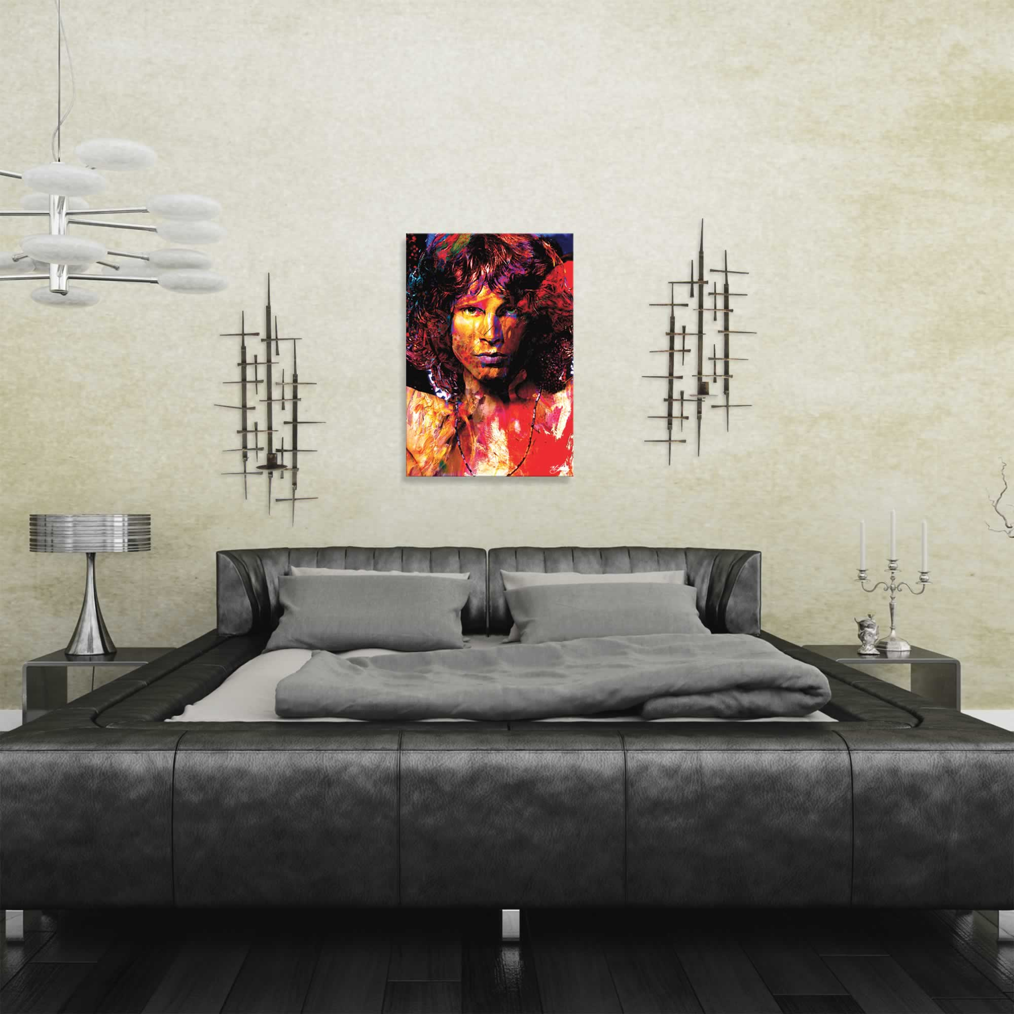 Jim Morrison Window of My Soul | Pop Art Painting by Mark Lewis, Signed & Numbered Limited Edition - ML0016