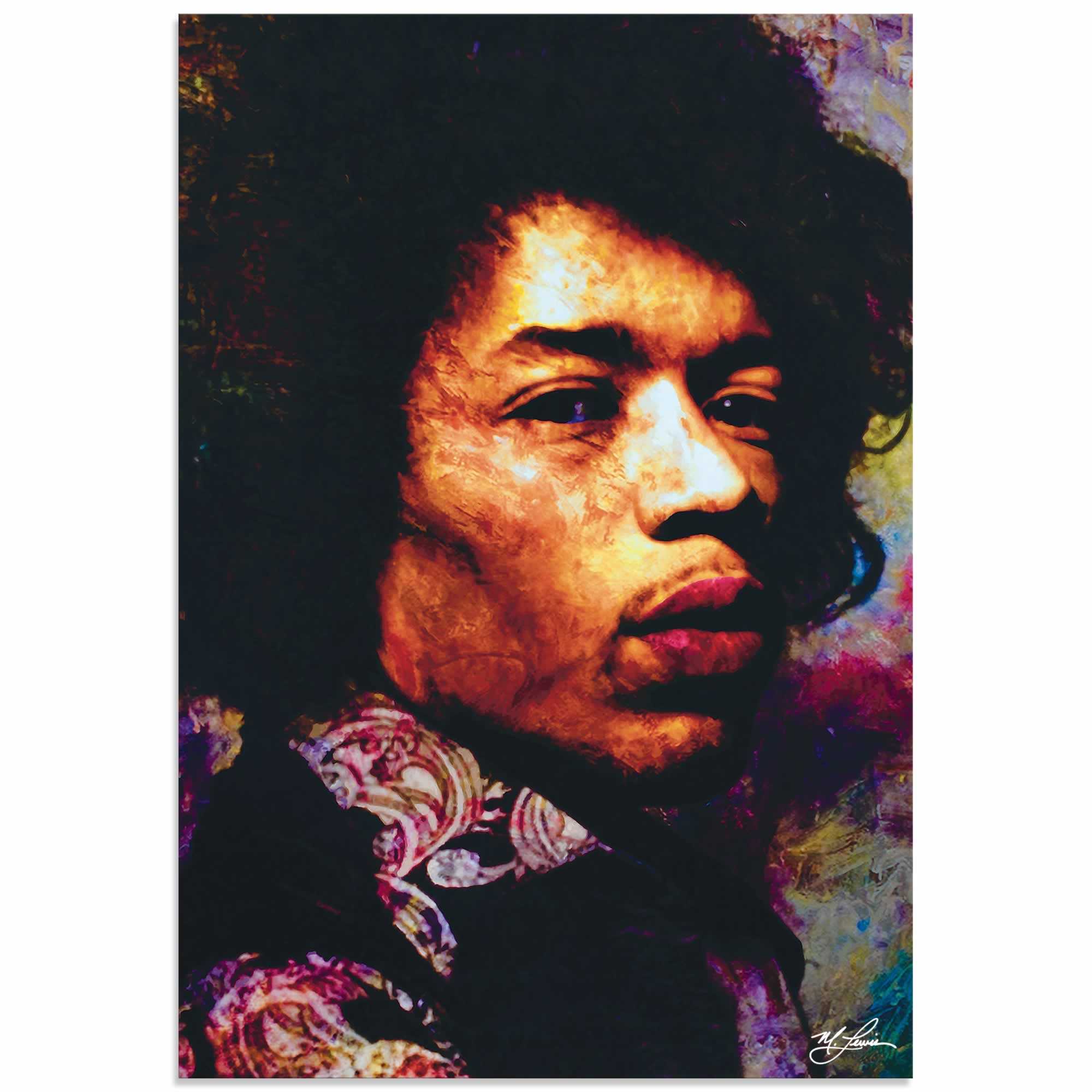 Jimi Hendrix Imagination Key | Pop Art Painting by Mark Lewis, Signed & Numbered Limited Edition