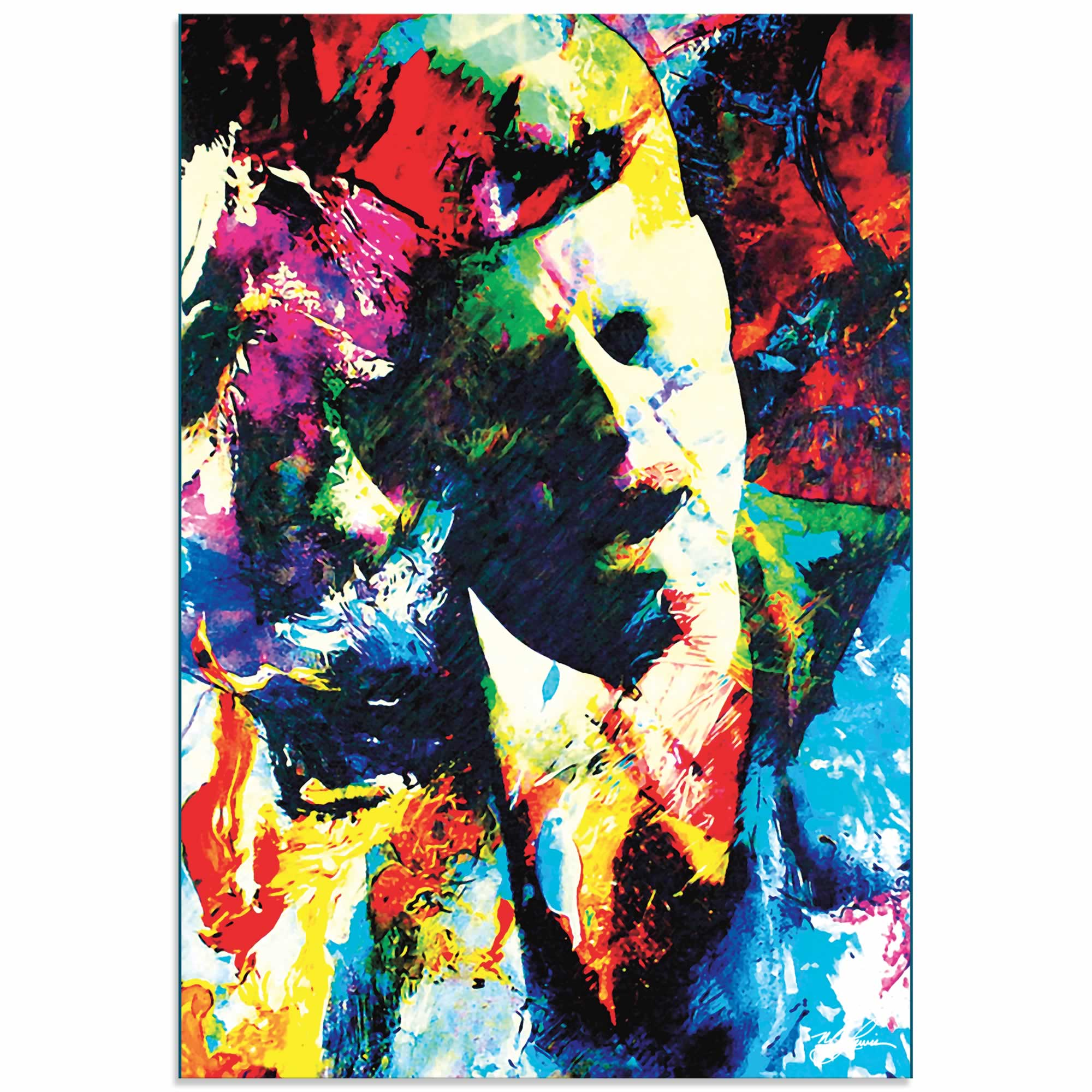John F Kennedy JFK | Pop Art Painting by Mark Lewis, Signed & Numbered Limited Edition