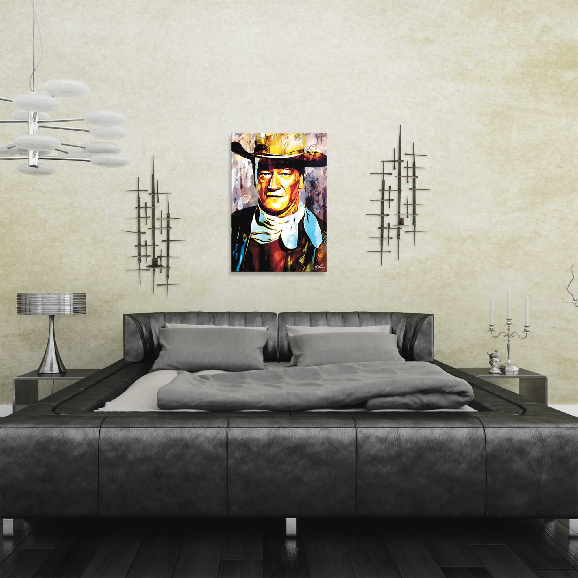 John Wayne Gallant Duke | Pop Art Painting by Mark Lewis, Signed & Numbered Limited Edition - ML0020