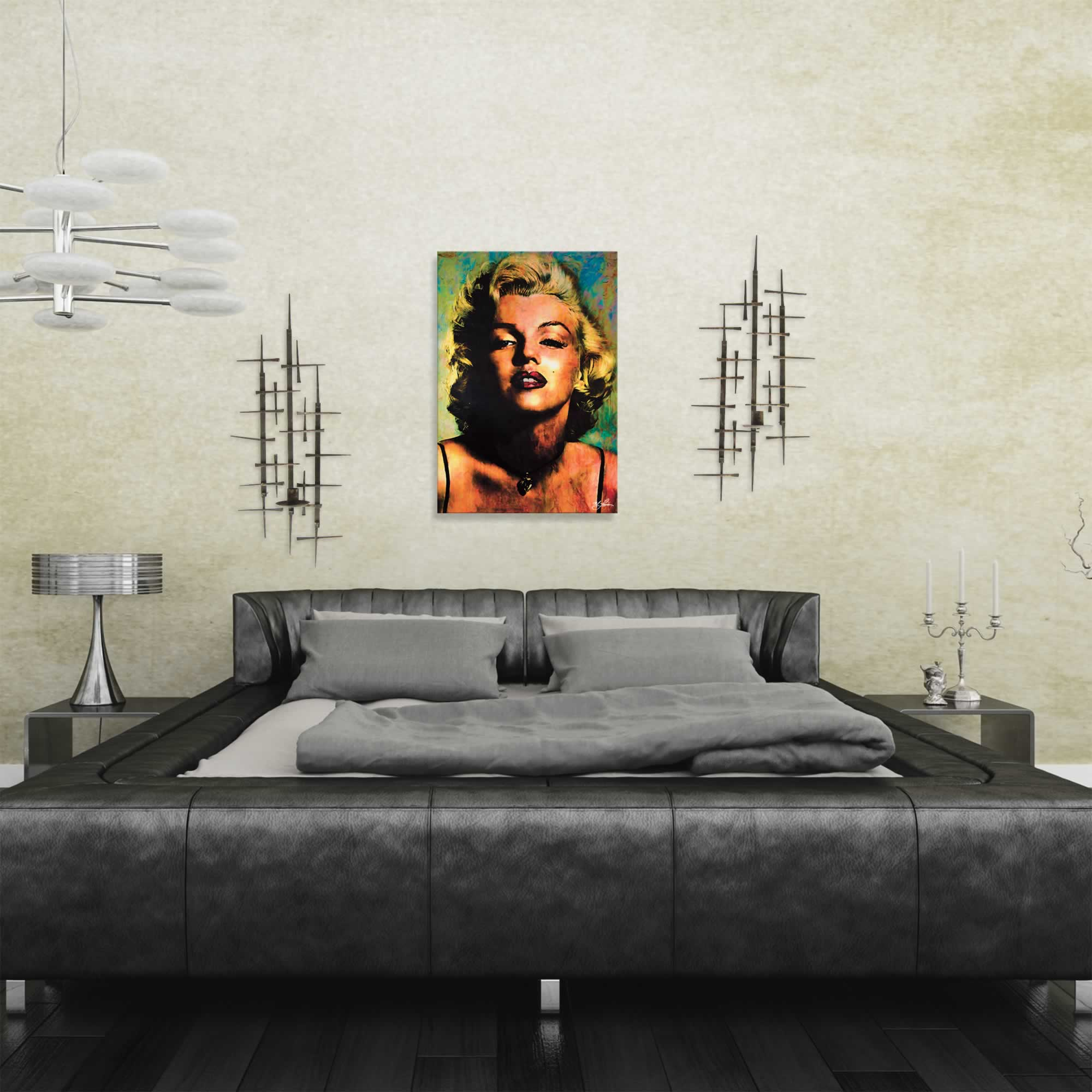 Marilyn Monroe Insatiable | Pop Art Painting by Mark Lewis, Signed & Numbered Limited Edition - ML0023